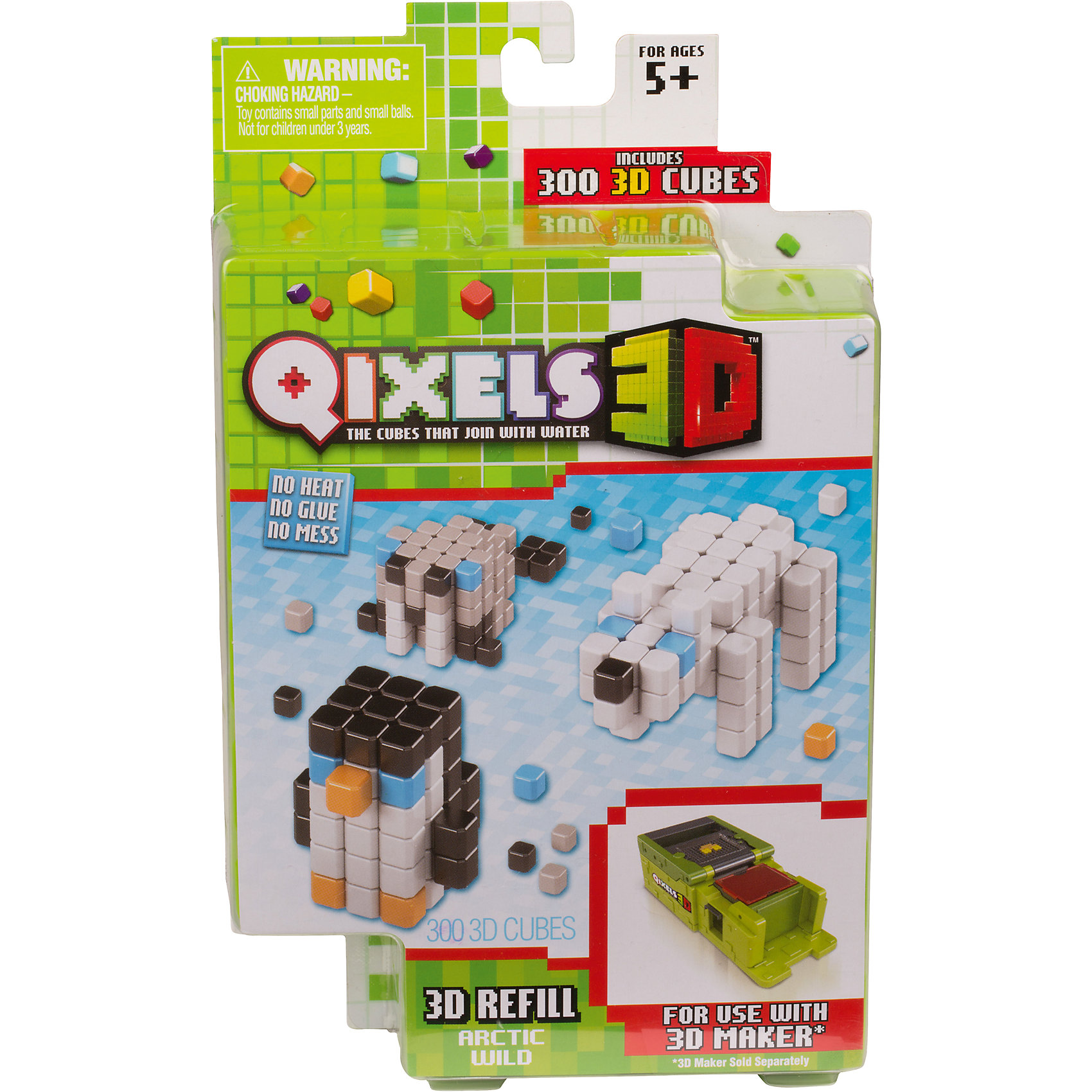 QIXELS 3D Дополнительные наборы для 3D Принтера Qixels в ассортиментеНаборы 3D ручек<br>Qixels – кубики, которые скрепляются при помощи воды!  Состав набора: 300 3D кубиков, 55 дополнительных кубика, 3 дизайн лекала, бирка с нитью и инструкция. В ассортименте шесть наборов: Динозавры, Арктика, Жуки, Пришельцы, Джунгли, Самолеты.<br><br>Ширина мм: 40<br>Глубина мм: 130<br>Высота мм: 215<br>Вес г: 177<br>Возраст от месяцев: 60<br>Возраст до месяцев: 1188<br>Пол: Унисекс<br>Возраст: Детский<br>SKU: 6742252