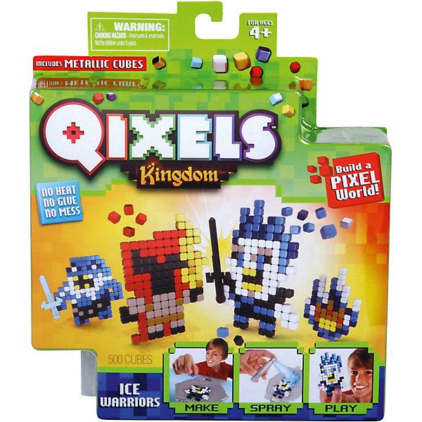 QIXELS Набор для творчества Ледяные воиныПластмассовые конструкторы<br>Qixels – кубики, которые скрепляются при помощи воды! Создай свой дизайн, сбрызни водой, оставь на 30 минут и фигурка готова! Состав набора: резервуар для воды, 500 кубиков, 2 дизайн лекала, опора, база, 2 аксессуара, емкость для кубиков и инструкция.<br><br>Ширина мм: 40<br>Глубина мм: 185<br>Высота мм: 210<br>Вес г: 233<br>Возраст от месяцев: 60<br>Возраст до месяцев: 1188<br>Пол: Унисекс<br>Возраст: Детский<br>SKU: 6742254