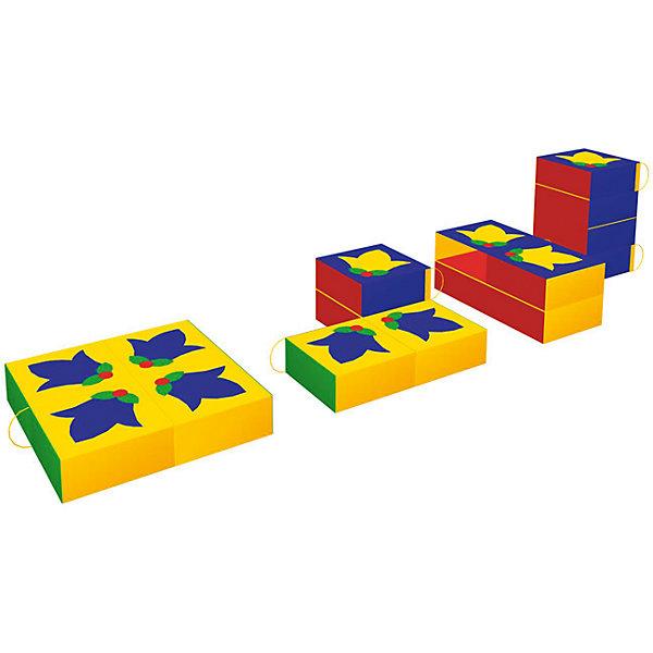 Игровая мебель Клумба, RomanaДетские мягкие кресла<br>Характеристики:<br><br>• развивает фантазию, пространственное мышление, моторику рук;<br>• в комплекте: 4 фигуры;<br>• материал: винилискожа, поролон;<br>• размер упаковки: 80х80х10 см;<br>• вес: 1800 грамм.<br><br>Игровая мебель Клумба состоит из четырех крупных мягких деталей. Из этих деталей ребенок сможет сложить квадрат, построить башню или любое оригинальное сооружение. <br><br>На одной стороне деталей нарисованы колокольчики, образующие красивые узор. Играя с Клумбой, ребенок познакомится с формами, цветами, а игра поможет развить моторику рук и пространственное мышление.<br><br>Мебель изготовлена из поролона, обшитого винилискожей - ребенок не ушибется в процессе игры. Все элементы легко очищаются моющими средствами.<br><br>Игровую мебель Клумба, Romana (Романа) вы можете купить в нашем интернет-магазине.<br><br>Ширина мм: 800<br>Глубина мм: 800<br>Высота мм: 100<br>Вес г: 1800<br>Возраст от месяцев: 36<br>Возраст до месяцев: 60<br>Пол: Унисекс<br>Возраст: Детский<br>SKU: 6742452