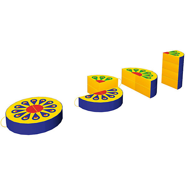 Игровая мебель Жар-птица, RomanaДетские мягкие кресла<br>Характеристики:<br><br>• развивает фантазию, пространственное мышление, моторику рук;<br>• в комплекте: 4 фигуры;<br>• размер фигуры: 40х40х10 см;<br>• материал: винилискожа, поролон;<br>• размер упаковки: 80х80х10 см;<br>• вес: 1800 грамм.<br><br>Игровая мебель Жар-птица - универсальный набор из четырех мягких фигур. Сложив фигуры в круг, ребенок увидит чудесный рисунок, напоминающий хвост сказочной птицы. А проявив фантазию, можно придумать оригинальную фигуру или сооружение. <br><br>Игра способствует развитию моторики рук и пространственного мышления. Кроме того, ребенок познакомится с цветами и формами. <br><br>Фигуры изготовлены из поролона и винилискожи. Мягкий материал препятствует травмированию во время игр. В случае необходимости вы легко очистите поверхность пуфов моющими средствами.<br><br>Игровую мебель Жар-птица, Romana (Романа) вы можете купить в нашем интернет-магазине.<br>Ширина мм: 800; Глубина мм: 800; Высота мм: 100; Вес г: 1800; Возраст от месяцев: 36; Возраст до месяцев: 60; Пол: Унисекс; Возраст: Детский; SKU: 6742453;