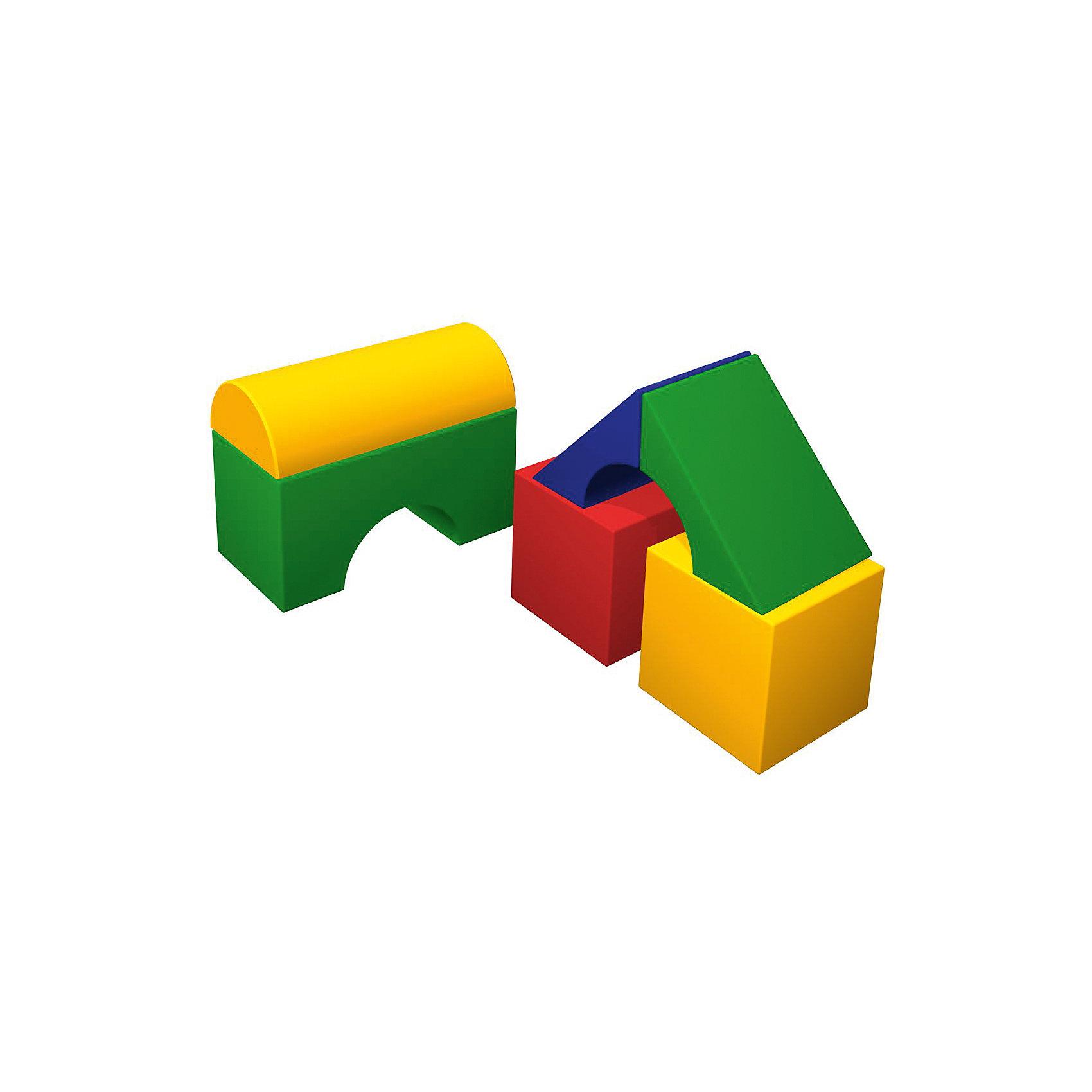 Мягкий конструктор Теремок мини, RomanaМебель<br>Характеристики:<br><br>• знакомит с формами, цветами и геометрическими фигурами;<br>• развивает фантазию, логическое мышление и моторику рук;<br>• в комплекте: 2 кубика, 2 маленьких моста, большой мост;<br>• размер кубика: 30х30х30 см;<br>• размер полуцилиндра: 60х30х15 см;<br>• размер большого моста: 60х30х30 см;<br>• размер маленького моста: 42,5х11,5х30 см;<br>• размер упаковки: 60х90х90 см;<br>• вес: 6000 грамм.<br><br>Теремок мини - мягкий конструктор для развивающих игр. В комплект входят два кубика, два маленьких моста, большой мост и полуцилиндр. Ребенок сможет проявить фантазию и построить интересное сооружение или башню. <br><br>Игра с мягким конструктором способствует развитию моторики рук, фантазии, пространственного и логического мышления. Теремок мини познакомит ребенка с геометрическими фигурами, цветами, формами и размерами. <br><br>Конструктор легко очищается от загрязнений при необходимости. Игрушку можно использовать дома или в детских учреждениях.<br><br>Мягкий конструктор Теремок мини, Romana (Романа) вы можете купить в нашем интернет-магазине.<br><br>Ширина мм: 900<br>Глубина мм: 900<br>Высота мм: 600<br>Вес г: 6000<br>Возраст от месяцев: 36<br>Возраст до месяцев: 60<br>Пол: Унисекс<br>Возраст: Детский<br>SKU: 6742457