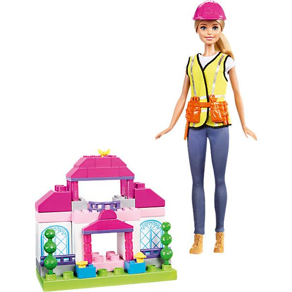 Игровой набор Barbie СтроительПопулярные игрушки<br>Характеристики:<br><br>• возраст: от 3 лет;<br>• материал: пластмасса, текстиль;<br>• в наборе: кукла, конструктор из 50 деталей;<br>• высота куклы: 29 см;<br>• вес упаковки: 495 гр.;<br>• размер упаковки: 33х6х22 см;<br>• страна бренда: США.<br><br>Игровой набор Barbie «Строитель» включает в себя куклу и конструктор для постройки домика. Барби освоила непростую профессию, но стала в ней успешной. Из 50 деталей можно собрать разные варианты сооружений.<br><br>Кукла одета в спецодежду. На ней желтая жилетка, пояс с инструментами и каска для безопасности. Игра с набором развивает мелкую моторику, воображение и цветовое восприятие. Сделано из качественных безопасных материалов.<br><br>Игровой набор Barbie «Строитель» можно купить в нашем интернет-магазине.<br>Ширина мм: 340; Глубина мм: 218; Высота мм: 66; Вес г: 480; Возраст от месяцев: 36; Возраст до месяцев: 72; Пол: Женский; Возраст: Детский; SKU: 6746580;