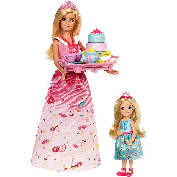 Игровой набор Barbie Чаепитие в СладкоградеБренды кукол<br><br><br>Ширина мм: 325<br>Глубина мм: 233<br>Высота мм: 66<br>Вес г: 334<br>Возраст от месяцев: 36<br>Возраст до месяцев: 72<br>Пол: Женский<br>Возраст: Детский<br>SKU: 6746581