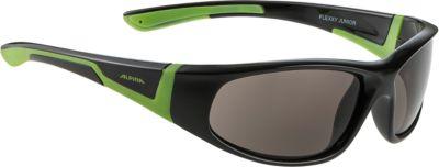 Очки солнцезащитные FLEXXY JUNIOR, черно-зеленые, ALPINA, артикул:6749317 - В дороге