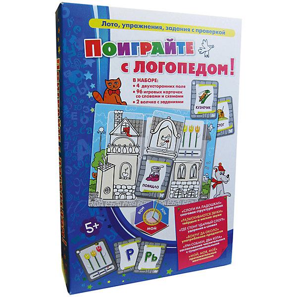 Поиграйте с логопедом!, Игротека Татьяны БарчанКниги для развития речи<br>Поиграйте с логопедом!, Игротека Татьяны Барчан.<br><br>Характеристики:<br><br>• Для детей в возрасте: от 5 до 10 лет<br>• В комплекте: 4 двухсторонних игровых поля, 86 карточек со словами различной слоговой структуры, 10 карточек-схем, 2 волчка с предлогами и притяжательными местоимениями, брошюра с описаниями вариантов заданий<br>• Игры: Слоги на ладошках - изучаем слоговую структуру слова; Разыскиваются звуки - изучаем твердые и мягкие звуки; Где стоит ударный слог - изучаем ударения в словах; Вокруг да около - изучаем употребление предлогов; Три собаки, два кота - изучаем согласование числительных с существительными; Мой, моя, моё - изучаем притяжательные местоимения<br>• Материал: плотный качественный картон<br>• Производитель: ЦОТР Ребус (Россия)<br>• Упаковка: картонная коробка<br>• Размер упаковки: 270х183х40 мм.<br>• Вес: 478 гр.<br><br>В этом игровом пособии собран тщательно подобранный речевой и дидактический материал, который может быть использован как специалистами, так и родителями при работе по целому ряду тем: разделение слова на слоги; знакомство с ударным слогом; употребление предлогов; твёрдые и мягкие звуки; согласование числительных с существительными; притяжательные местоимения. <br><br>Весёлые картинки и неожиданные способы проверки превращают трудные темы в любимые занятия. Все варианты игр прописаны в брошюре. Игры способствует развитию наглядно-образного мышления, произвольного внимания, памяти, зрительного и слухового восприятия, пространственной ориентации, формированию навыков самоконтроля.<br><br>Игру Поиграйте с логопедом!, Игротека Татьяны Барчан можно купить в нашем интернет-магазине.<br>Ширина мм: 270; Глубина мм: 180; Высота мм: 40; Вес г: 483; Возраст от месяцев: 60; Возраст до месяцев: 120; Пол: Унисекс; Возраст: Детский; SKU: 6751346;