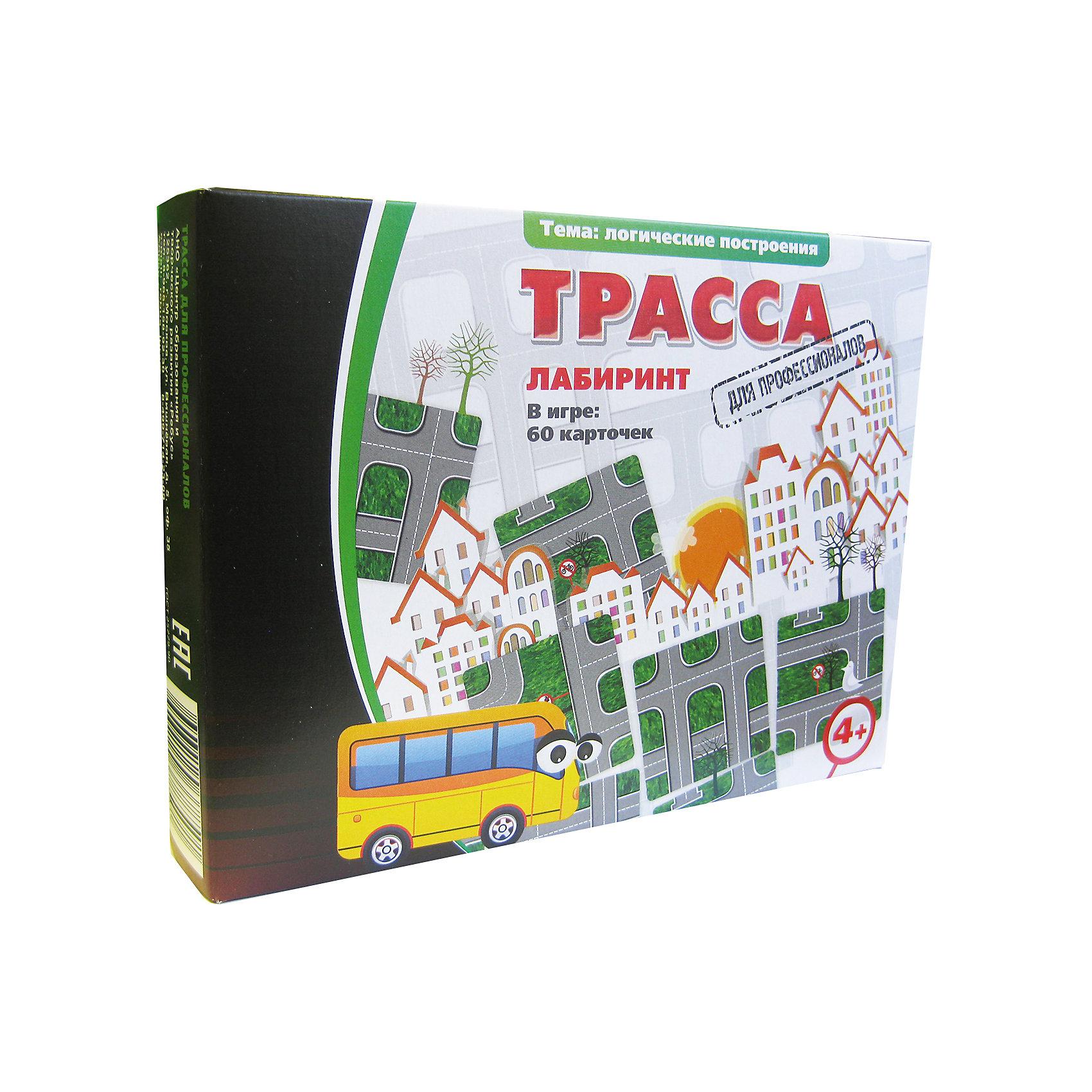 Трасса, Игротека Татьяны БарчанОбучающие карточки<br>Трасса, Игротека Татьяны Барчан.<br><br>Характеристики:<br><br>• Для детей в возрасте: от 4 до 6 лет<br>• В комплекте: 60 карточек-фрагментов дорожного лабиринта, инструкция<br>• Тема: Логические построения<br>• Материал: плотный качественный картон<br>• Производитель: ЦОТР Ребус (Россия)<br>• Упаковка: картонная коробка<br>• Размер упаковки: 180х135х40 мм.<br>• Вес: 185 гр.<br><br>Игра Трасса - это логическая настольная игра для тех, кто не лишен водительского азарта и готов к приключениям. Из карточек с фрагментами дороги необходимо составить трассу для путешествия по намеченному маршруту или проложить кратчайший путь в погоне за нарушителем. В правилах предложены два варианта игры: Погоня - для двух игроков и Маршрут - для индивидуального строительства трассы. <br><br>В первом случае один игрок становится водителем джипа, а второй его преследователем. На столе из любых карточек набора выкладывается трасса, а к ее противоположным концам прикладываются фрагменты с выбранными машинками. В свой ход игрок может повернуть три любые фрагмента трассы, для того чтобы попасть на одну дорогу с преследуемой машинкой, либо наоборот уйти от погони. <br><br>Второй вариант начинается с выбора темы трассы-лабиринта. Например, нужно проложить маршрут для автобуса, который везет пассажиров в цирк. Для этого ребенок из случайно отобранных карточек с фрагментами дороги, раскладывает на столе дорожную карту, в которой соединяет участки дороги в требуемом направлении. Игра развивает внимание, терпение и пространственное воображение, учит решать стратегические задачи.<br><br>Игру Трасса, Игротека Татьяны Барчан можно купить в нашем интернет-магазине.<br><br>Ширина мм: 180<br>Глубина мм: 135<br>Высота мм: 40<br>Вес г: 184<br>Возраст от месяцев: 48<br>Возраст до месяцев: 72<br>Пол: Унисекс<br>Возраст: Детский<br>SKU: 6751372