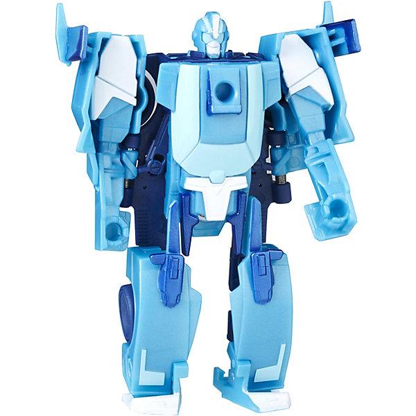Трансформеры Роботс-ин-Дисгайс Уан-Стэп, B0068/С0898Фигурки из мультфильмов<br>Характеристики:<br><br>• возраст: от 5 лет;<br>• материал: пластик;<br>• в комплекте: фигурка;<br>• высота фигурки: 10 см;<br>• размер упаковки: 17,6х15,2х4,8 см;<br>• вес упаковки: 97 гр.;<br>• страна производитель: Китай.<br><br>Игровой набор «Трансформеры Роботс-ин-Дисгайс Уан-Стэп» Hasbro создан по мотивам мультфильма «Трансформеры: роботы под прикрытием». Фигурка одним простым движением превращается в транспортное средство. На груди каждого робота имеется специальная наклейка. Если отсканировать ее при помощи смартфона, то можно получить дополнительные возможности в мобильном приложении.<br><br>Игровой набор «Трансформеры Роботс-ин-Дисгайс Уан-Стэп» Hasbro можно приобрести в нашем интернет-магазине.<br>Ширина мм: 176; Глубина мм: 152; Высота мм: 48; Вес г: 97; Возраст от месяцев: 60; Возраст до месяцев: 120; Пол: Мужской; Возраст: Детский; SKU: 6751487;