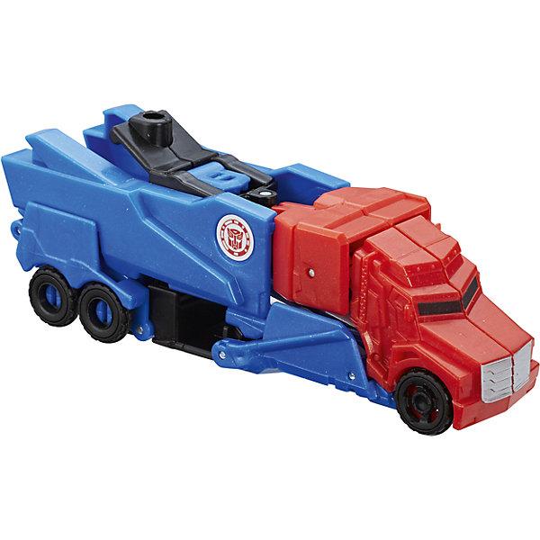 Трансформеры Роботс-ин-Дисгайс Уан-Стэп, B0068/С0648Трансформеры-игрушки<br>Характеристики:<br><br>• возраст: от 5 лет;<br>• материал: пластик;<br>• в комплекте: фигурка;<br>• высота фигурки: 10 см;<br>• размер упаковки: 17,6х15,2х4,8 см;<br>• вес упаковки: 97 гр.;<br>• страна производитель: Китай.<br><br>Игровой набор «Трансформеры Роботс-ин-Дисгайс Уан-Стэп» Hasbro создан по мотивам мультфильма «Трансформеры: роботы под прикрытием». Фигурка одним простым движением превращается в транспортное средство. На груди каждого робота имеется специальная наклейка. Если отсканировать ее при помощи смартфона, то можно получить дополнительные возможности в мобильном приложении.<br><br>Игровой набор «Трансформеры Роботс-ин-Дисгайс Уан-Стэп» Hasbro можно приобрести в нашем интернет-магазине.<br>Ширина мм: 176; Глубина мм: 152; Высота мм: 48; Вес г: 97; Возраст от месяцев: 60; Возраст до месяцев: 120; Пол: Мужской; Возраст: Детский; SKU: 6751488;
