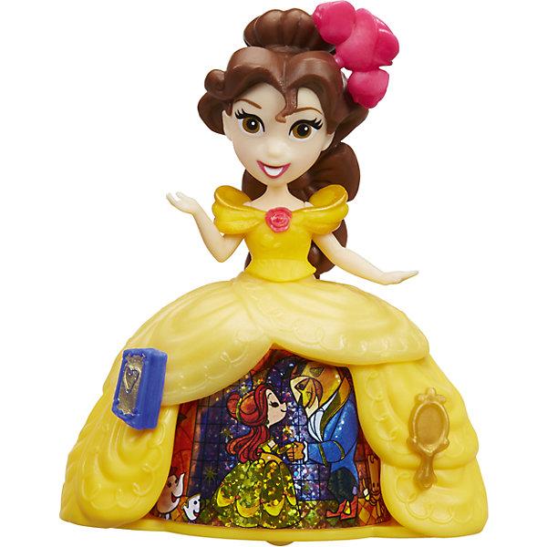 Кукла Принцесса в платье с волшебной юбкой Бель, Принцессы Дисней, HasbroИдеи подарков<br>Характеристики:<br><br>• возраст: от 4 лет;<br>• материал: пластик;<br>• в комплекте: кукла;<br>• размер упаковки: 17,8х17,8х5,7 см;<br>• вес упаковки: 104 гр.;<br>• страна производитель: Китай.<br><br>Кукла «Принцесса в платье с волшебной юбкой» Hasbro — главная героиня мультфильма Дисней «Красавица и чудовище» принцесса Бэлль. Она одета в желтое платье с необычной волшебной юбкой. Если покатить куклу, то девочка сможет увидеть, как 3 известные сценки из мультфильма сменяют друг друга. <br><br>Куклу «Принцесса в платье с волшебной юбкой» Hasbro можно приобрести в нашем интернет-магазине.<br>Ширина мм: 57; Глубина мм: 178; Высота мм: 178; Вес г: 104; Возраст от месяцев: 48; Возраст до месяцев: 2147483647; Пол: Женский; Возраст: Детский; SKU: 6753126;