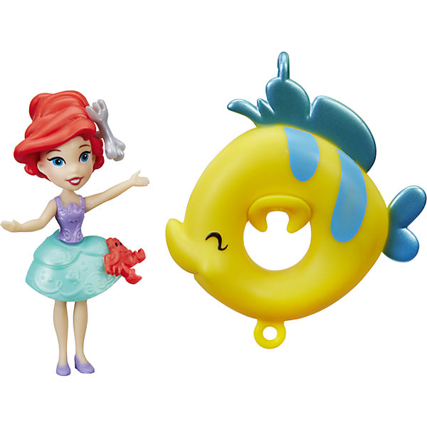 Кукла принцесса, плавающая на круге Ариэль, Принцессы Дисней, HasbroИдеи подарков<br>Характеристики:<br><br>• возраст: от 4 лет;<br>• материал: пластик;<br>• в комплекте: кукла, круг;<br>• размер упаковки: 15,2х15,2х3,8 см;<br>• вес упаковки: 95 гр.;<br>• страна производитель: Китай.<br><br>Кукла «Принцесса, плавающая на круге» Hasbro — главная героиня мультфильма Дисней «Русалочка». Ариэль одета в яркое разноцветное платье с голубой юбкой. В комплекте плавательный круг, с помощью которого куколка может плавать на воде. Все круги соединяются между собой, и принцессы могут плавать вместе. Игрушка разнообразит купание девочки в ванной, сделает его интересным и увлекательным.<br><br>Куклу «Принцесса, плавающая на круге» Hasbro можно приобрести в нашем интернет-магазине.<br><br>Ширина мм: 38<br>Глубина мм: 152<br>Высота мм: 152<br>Вес г: 95<br>Возраст от месяцев: 48<br>Возраст до месяцев: 2147483647<br>Пол: Женский<br>Возраст: Детский<br>SKU: 6753131