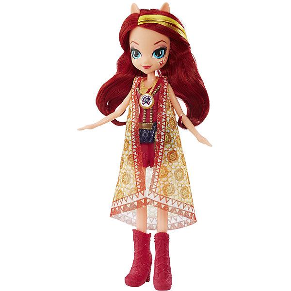 Кукла Эквестрия Герлз Легенды вечнозеленого леса, Сансет ШиммерMy little Pony<br>Характеристики:<br><br>• возраст: от 5 лет;<br>• материал: пластик;<br>• в комплекте: кукла, наряд, ожерелье;<br>• высота куклы: 22 см;<br>• размер упаковки: 33,5х14х5 см;<br>• вес упаковки: 200 гр.;<br>• страна производитель: Китай.<br><br>Кукла «Легенда Вечнозеленого леса» Hasbro — героиня известного мультсериала «Мой маленький пони. Девочки из Эквестрии» Шиммер. Она одета в короткие красные шортики, красную тунику и высокие сапожки. У куклы выразительные голубые глаза и длинные мягкие красные волосы. Дополняет образ Шиммер необычное ожерелье. На ожерелье имеется код, который поможет разблокировать увлекательную игру в приложении Equestria Girls.<br><br>Куклу «Легенда Вечнозеленого леса» Hasbro можно приобрести в нашем интернет-магазине.<br><br>Ширина мм: 50<br>Глубина мм: 140<br>Высота мм: 335<br>Вес г: 200<br>Возраст от месяцев: 60<br>Возраст до месяцев: 2147483647<br>Пол: Женский<br>Возраст: Детский<br>SKU: 6753134