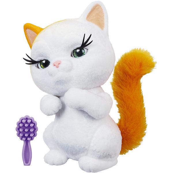 Интерактивная игрушка FurReal Friends Пушистый друг Рыжий котенокМягкие игрушки из мультфильмов<br>Характеристики:<br><br>• возраст: от 4 лет;<br>• материал: пластик, плюш;<br>• в комплекте: питомец, расческа;<br>• тип батареек: 2 батарейки LR44;<br>• наличие батареек: демонстрационные в комплекте;<br>• размер упаковки: 21,6х20,3х10,8 см;<br>• вес упаковки: 612 гр.;<br>• страна производитель: Китай.<br><br>Пушистый друг «Рыжий котенок» FurReal Hasbro станет для ребенка самым настоящим питомцем. У белоснежного пушистого котенка завораживающие глазки с длинными ресницами, рыжий пушистый хвост и рыжее ушко. В комплекте расческа, которой можно расчесывать хвостик питомца.<br><br>Игрушка является интерактивной, что сделает игру с ней еще интересней. Котенок умеет моргать глазками, двигать головой, проявлять эмоции. Во время игры он забавно мурлыкает и мяукает. Игрушка приучит ребенка к заботе и ответственности о животных, подготовит к появлению настоящего питомца в доме.<br><br>Пушистого друга «Рыжий котенок» FurReal Hasbro можно приобрести в нашем интернет-магазине.<br><br>Ширина мм: 108<br>Глубина мм: 203<br>Высота мм: 216<br>Вес г: 612<br>Возраст от месяцев: 48<br>Возраст до месяцев: 2147483647<br>Пол: Женский<br>Возраст: Детский<br>SKU: 6753144