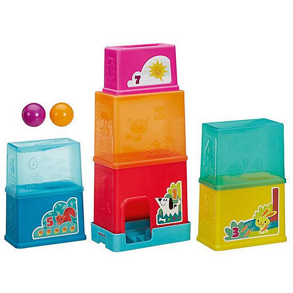 Складная башня, PLAYSKOOL, HasbroРазвивающие игрушки<br>Характеристики:<br><br>• возраст: от 1,5 лет;<br>• материал: пластик;<br>• в комплекте: 7 блоков, 2 шарика;<br>• размер упаковки: 27х36,5х23,5 см;<br>• вес упаковки: 1,5 кг;<br>• страна производитель: Китай.<br><br>Складная башня Playskool Hasbro — развивающая игрушка для малышей от 1,5 лет. В набор входят блоки разного размера, с помощью которых ребенку предстоит построить высокую башню. В процессе игры у него развивается логическое мышление, так как нужно расположить все элементы в правильном порядке.<br><br>2 шарика, которые можно толкать и катать по полу, способствуют развитию моторики рук и тактильных ощущений. Все блоки пронумерованы, что позволит выучить цифры и основы счета во время игры.<br><br>Складную башню Playskool Hasbro можно приобрести в нашем интернет-магазине.<br>Ширина мм: 365; Глубина мм: 270; Высота мм: 235; Вес г: 1497; Возраст от месяцев: 24; Возраст до месяцев: 2147483647; Пол: Унисекс; Возраст: Детский; SKU: 6753160;