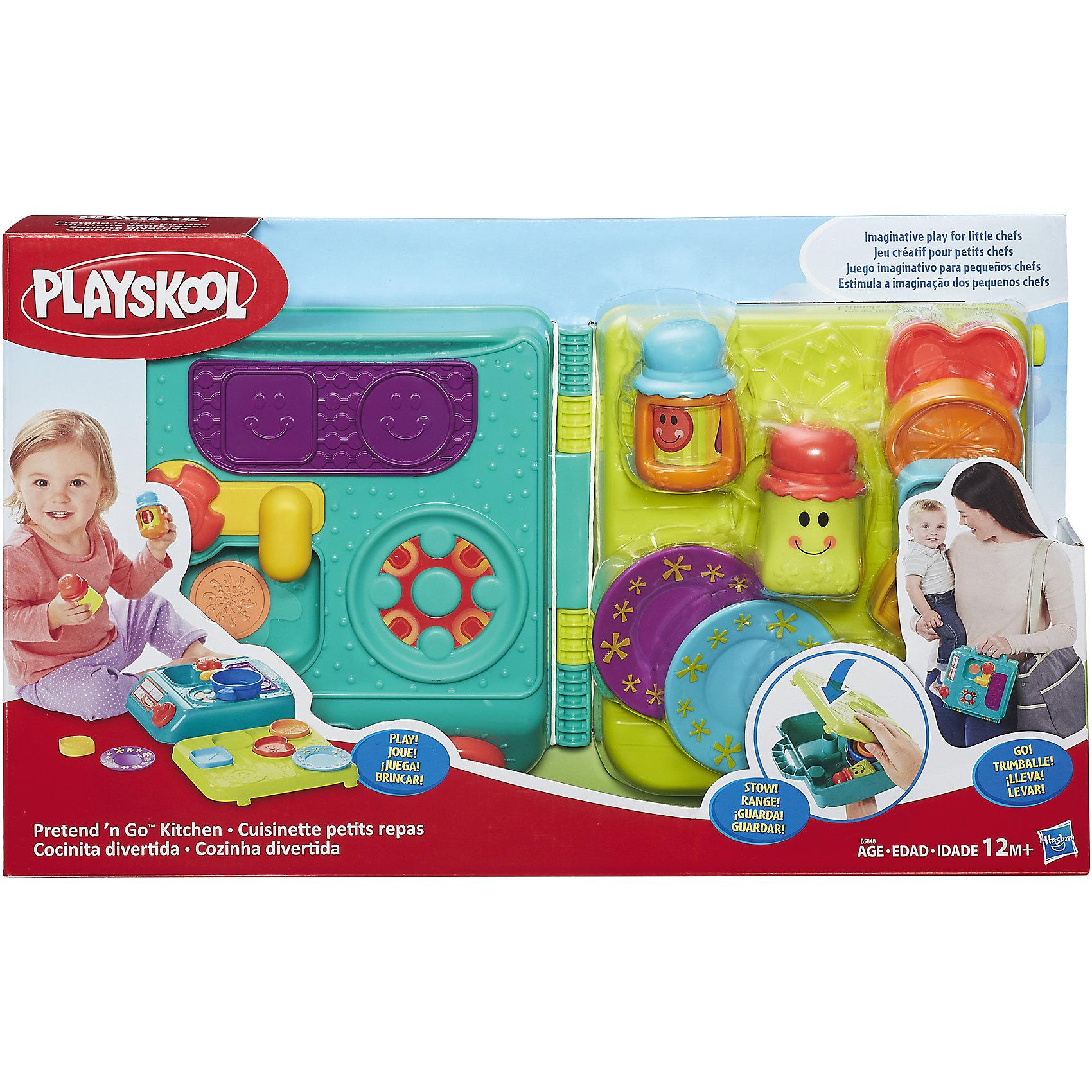 Моя первая кухня возьми с собой, PLAYSKOOL, HasbroРазвивающие игрушки<br>Характеристики:<br><br>• возраст: от 1 года;<br>• материал: пластик;<br>• в комплекте: чемодан, аксессуары;<br>• размер упаковки: 46,7х24,4х29,8 см;<br>• вес упаковки: 1,06 кг;<br>• страна производитель: Китай.<br><br>Моя первая кухня «Возьми с собой» Playskool Hasbro — развивающая игрушка для детей от 1 года. В набор входят предметы посуды, которые позволят придумать множество развивающих игр и попробовать себя настоящим поваром.<br><br>Все предметы находятся в удобном закрывающемся чемоданчике, поэтому их можно брать с собой в поездку и удобно хранить дома, чтобы ничего не потерять. На одной из сторон чемодана находятся варочная панель и раковина. Игрушка способствует развитию мелкой моторики рук, логического мышления, цветового восприятия, воображения. Все элементы выполнены из качественного безопасного пластика.<br><br>Мою первую кухню «Возьми с собой» Playskool Hasbro можно приобрести в нашем интернет-магазине.<br><br>Ширина мм: 467<br>Глубина мм: 244<br>Высота мм: 298<br>Вес г: 1066<br>Возраст от месяцев: 12<br>Возраст до месяцев: 2147483647<br>Пол: Унисекс<br>Возраст: Детский<br>SKU: 6753161