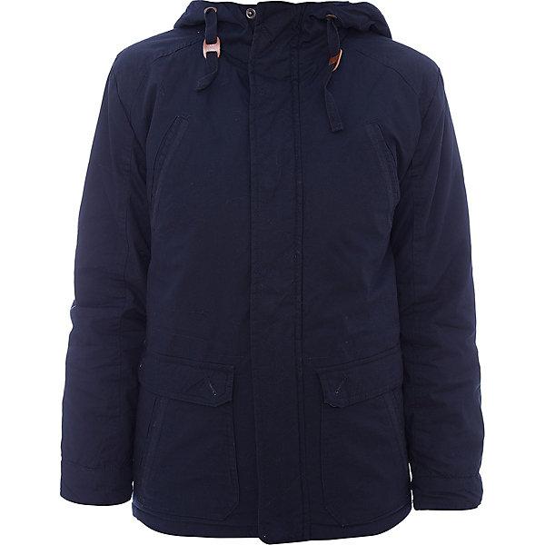 Куртка для мальчика ScoolВерхняя одежда<br>Куртка для мальчика Scool<br>Практичная утепленная куртка с капюшоном из ткани со специальной водоотталкивающей пропиткой защитит ребенка в любую погоду! Вшивной капюшон снабжен регулируемым шнуром - кулиской. Модель с заниженной спинкой и мягким трикотажным воротником, декорирована удобными накладными и встрочными карманами. Светоотражатели на рукаве и по низу изделия обеспечат безопасность  ребенка в темное время суток.Преимущества: Ткань с водоотталкивающей пропиткойСветоотражающие элементы на рукаве и по низу изделияМанжеты на удобных застежках - кнопках<br>Состав:<br>Верх: 100% хлопок,  подкладка: 100% полиэстер, наполнитель: 100% полиэстер, 150 г/м2<br>Ширина мм: 356; Глубина мм: 10; Высота мм: 245; Вес г: 519; Цвет: темно-синий; Возраст от месяцев: 144; Возраст до месяцев: 156; Пол: Мужской; Возраст: Детский; Размер: 158,128,164,152,146,140,134; SKU: 6754356;