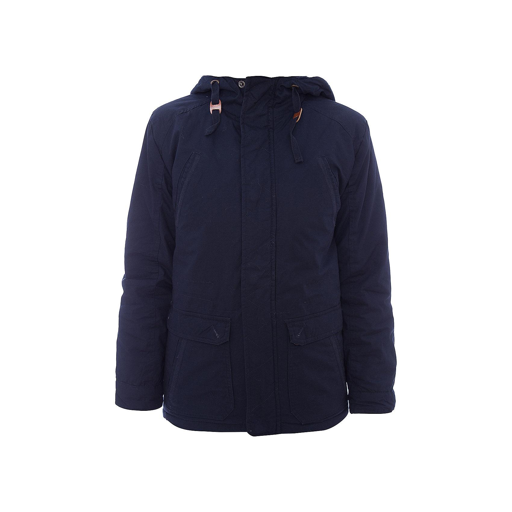 Куртка для мальчика ScoolВерхняя одежда<br>Куртка для мальчика Scool<br>Практичная утепленная куртка с капюшоном из ткани со специальной водоотталкивающей пропиткой защитит ребенка в любую погоду! Вшивной капюшон снабжен регулируемым шнуром - кулиской. Модель с заниженной спинкой и мягким трикотажным воротником, декорирована удобными накладными и встрочными карманами. Светоотражатели на рукаве и по низу изделия обеспечат безопасность  ребенка в темное время суток.Преимущества: Ткань с водоотталкивающей пропиткойСветоотражающие элементы на рукаве и по низу изделияМанжеты на удобных застежках - кнопках<br>Состав:<br>Верх: 100% хлопок,  подкладка: 100% полиэстер, наполнитель: 100% полиэстер, 150 г/м2<br><br>Ширина мм: 356<br>Глубина мм: 10<br>Высота мм: 245<br>Вес г: 519<br>Цвет: темно-синий<br>Возраст от месяцев: 156<br>Возраст до месяцев: 168<br>Пол: Мужской<br>Возраст: Детский<br>Размер: 164,128,134,140,146,152,158<br>SKU: 6754356