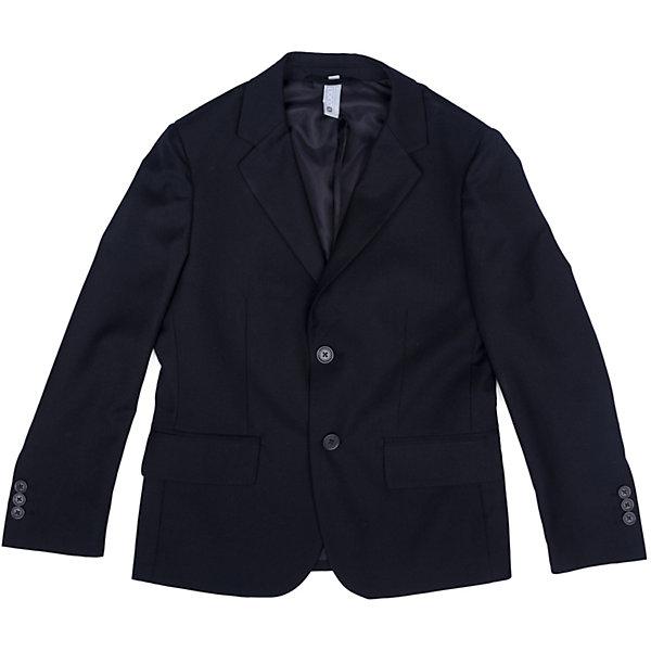Пиджак  для мальчика ScoolПиджаки и костюмы<br>Пиджак  для мальчика Scool<br>Однобортный пиджак подойдет как для официальных мероприятий, так и в качестве одной из базовых вещей школьного гардероба. Лекало модели полностью повторяет лекало пиджака для взрослого мужчины. При необходимости этот пиджак можно повесить на крючок - на модели предусмотрена петля - вешалка.Преимущества: Пиджак на подкладке из атласной тканиМодель с прорезными карманамиПиджак застегивается на пуговицы<br>Состав:<br>Верх: 65% полиэстер, 35% вискоза, Подкладка: 65% полиэстер 35% вискоза<br>Ширина мм: 190; Глубина мм: 74; Высота мм: 229; Вес г: 236; Цвет: синий; Возраст от месяцев: 84; Возраст до месяцев: 96; Пол: Мужской; Возраст: Детский; Размер: 128,164,122,158,152,146,140,134; SKU: 6754381;