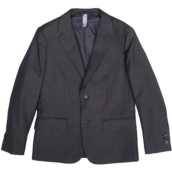 Пиджак  для мальчика ScoolКостюмы и пиджаки<br>Пиджак  для мальчика Scool<br>Однобортный пиджак подойдет как для официальных мероприятий, так и в качестве одной из базовых вещей школьного гардероба. Лекало модели полностью повторяет лекало пиджака для взрослого мужчины. При необходимости этот пиджак можно повесить на крючок - на модели предусмотрена петля - вешалка.Преимущества: Пиджак на подкладке из атласной тканиМодель с прорезными карманамиПиджак застегивается на пуговицы<br>Состав:<br>Верх: 65% полиэстер, 35% вискоза, Подкладка: 65% полиэстер 35% вискоза<br>Ширина мм: 190; Глубина мм: 74; Высота мм: 229; Вес г: 236; Цвет: серый; Возраст от месяцев: 96; Возраст до месяцев: 108; Пол: Мужской; Возраст: Детский; Размер: 134,128,122,164,158,152,146,140; SKU: 6754390;