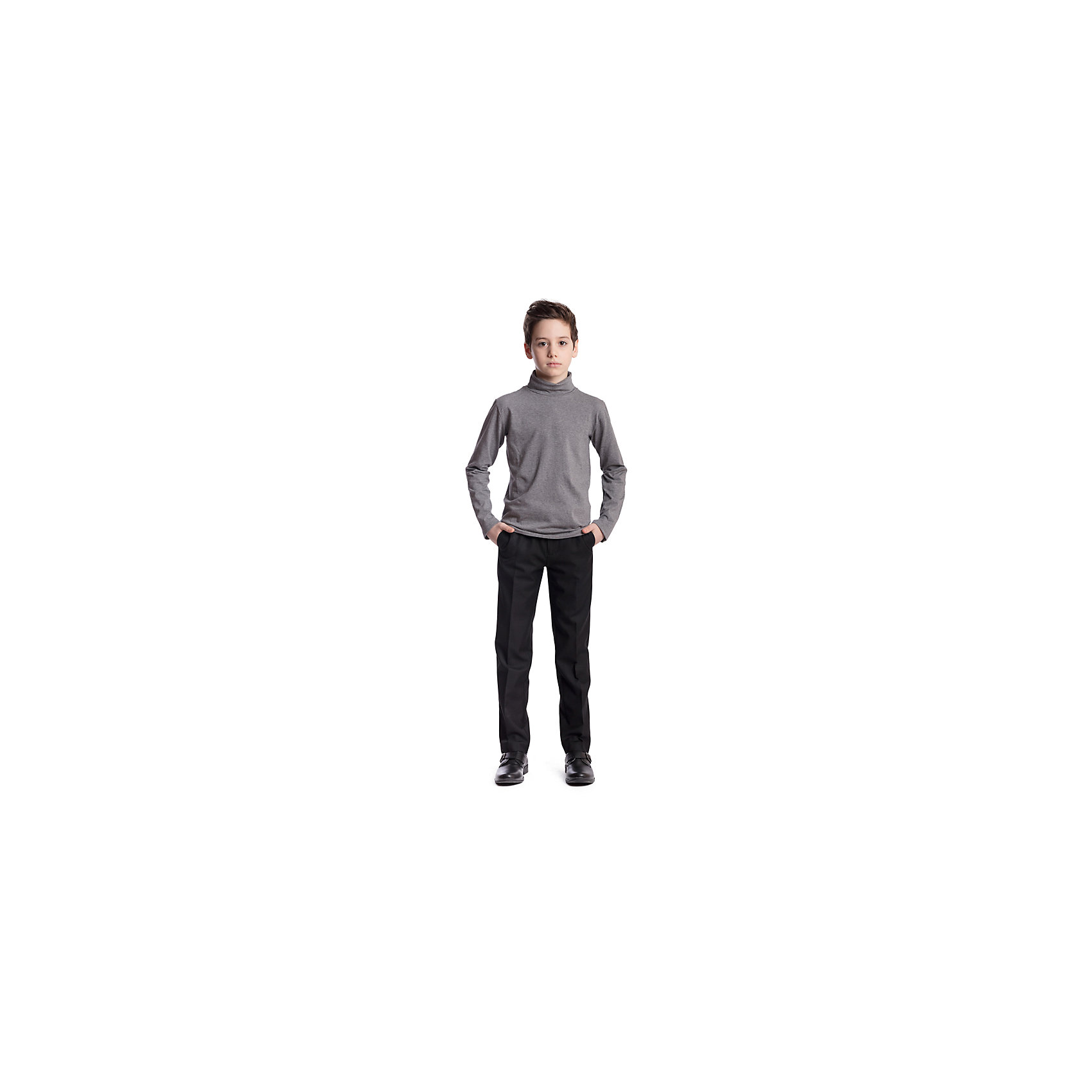 Брюки для мальчика ScoolБрюки<br>Брюки для мальчика Scool<br>Брюки в деловом стиле. Лекало этой модели брюк полностью повторяет лекало модели для взрослого мужчины. Брюки со стрелками; на внутренней стороне пояса предусмотрена регулировка по талии за счет удобной резинки на пуговицах.Преимущества: Модель со шлевками, при необходимости можно использовать ременьРегулировка по талии за счет внутренней резинки с пуговицейМодель с вшивными карманами<br>Состав:<br>65% полиэстер, 35% вискоза<br><br>Ширина мм: 215<br>Глубина мм: 88<br>Высота мм: 191<br>Вес г: 336<br>Цвет: черный<br>Возраст от месяцев: 156<br>Возраст до месяцев: 168<br>Пол: Мужской<br>Возраст: Детский<br>Размер: 164,134,122,128,140,146,152,158<br>SKU: 6754426