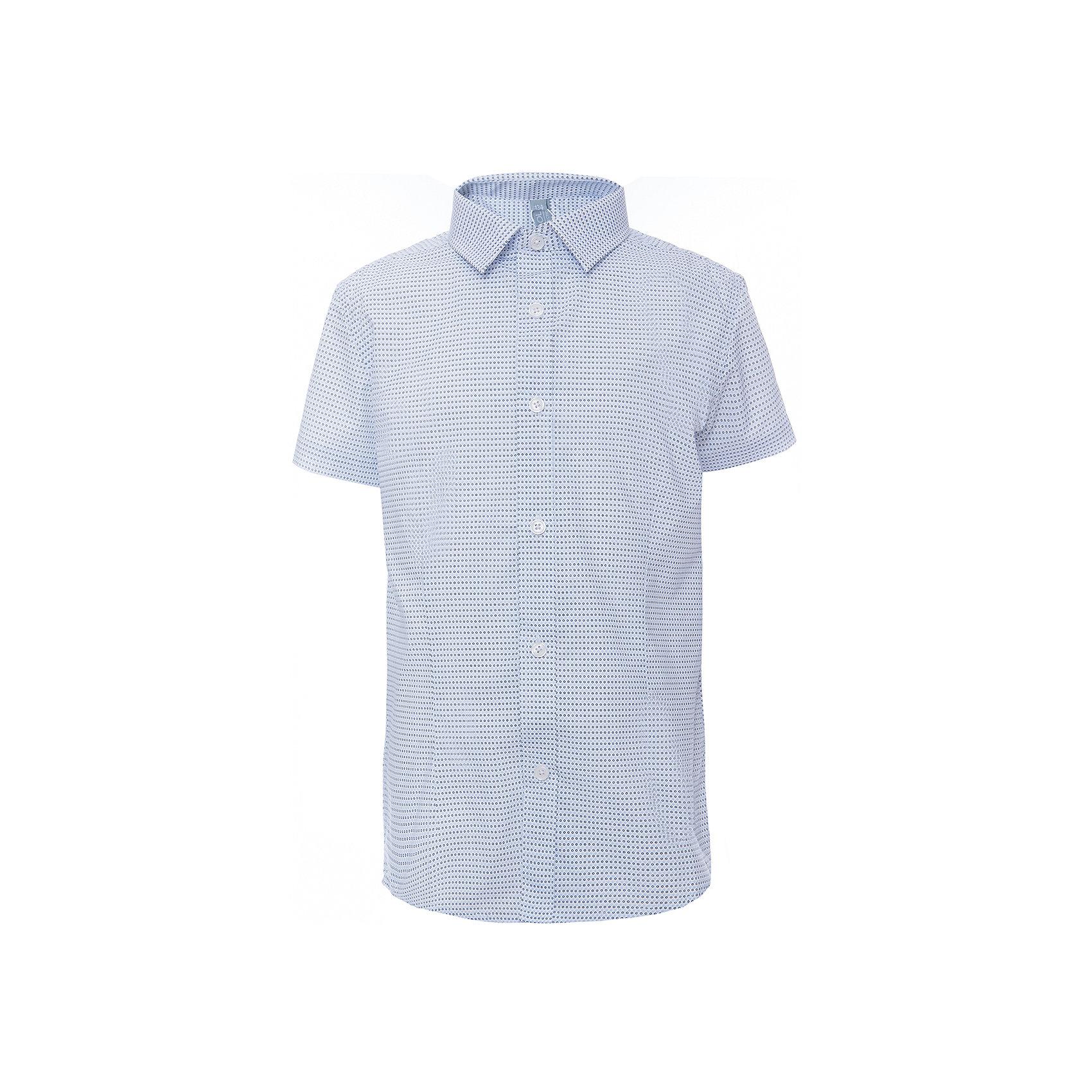 Рубашка для мальчика ScoolБлузки и рубашки<br>Рубашка для мальчика Scool<br>, , Сорочка с коротким рукавом в классическом стиле выполнена из приятной к телу смесовой ткани. Лекало этой модели полностью повторяет лекало модели для взрослого мужчины. Сорочка хорошо сочетается с костюмом в деловом стиле и джинсами.<br>Состав:<br>45% хлопок, 55% полиэстер<br><br>Ширина мм: 174<br>Глубина мм: 10<br>Высота мм: 169<br>Вес г: 157<br>Цвет: серый<br>Возраст от месяцев: 156<br>Возраст до месяцев: 168<br>Пол: Мужской<br>Возраст: Детский<br>Размер: 164,122,128,134,140,146,152,158<br>SKU: 6754480
