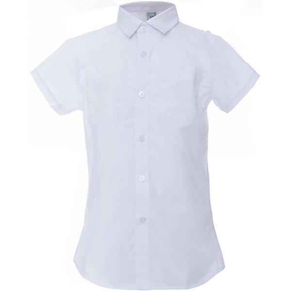 Рубашка для мальчика ScoolБлузки и рубашки<br>Рубашка для мальчика Scool<br>Сорочка с коротким рукавом в классическом стиле выполнена из приятной к телу смесовой ткани. Лекало этой модели полностью повторяет лекало модели для взрослого мужчины. Сорочка хорошо сочетается с костюмом в деловом стиле и джинсами.<br>Состав:<br>45% хлопок, 55% полиэстер<br><br>Ширина мм: 174<br>Глубина мм: 10<br>Высота мм: 169<br>Вес г: 157<br>Цвет: белый<br>Возраст от месяцев: 96<br>Возраст до месяцев: 108<br>Пол: Мужской<br>Возраст: Детский<br>Размер: 134,140,146,152,158,164,122,128<br>SKU: 6754489