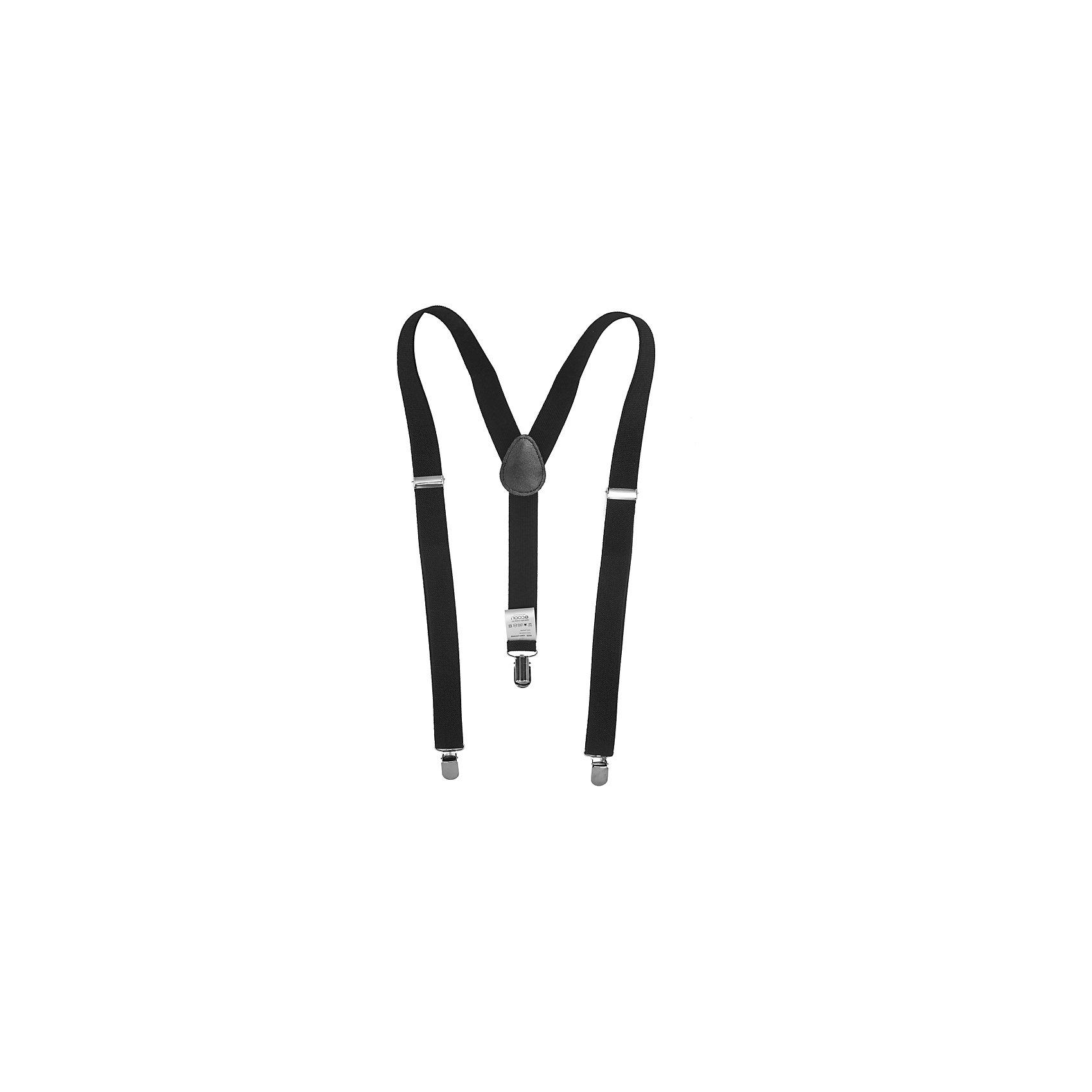 Подтяжки для мальчика ScoolАксессуары<br>Подтяжки для мальчика Scool<br>Подтяжки - незаменимая вещь в детском гардеробе. Удобные застежки - клипсы хорошо фиксируют подтяжки на одежде. Модель с регулируемыми бретелями.<br>Состав:<br>100% полиэстер<br><br>Ширина мм: 170<br>Глубина мм: 157<br>Высота мм: 67<br>Вес г: 117<br>Цвет: черный<br>Возраст от месяцев: 60<br>Возраст до месяцев: 132<br>Пол: Мужской<br>Возраст: Детский<br>Размер: one size<br>SKU: 6754549