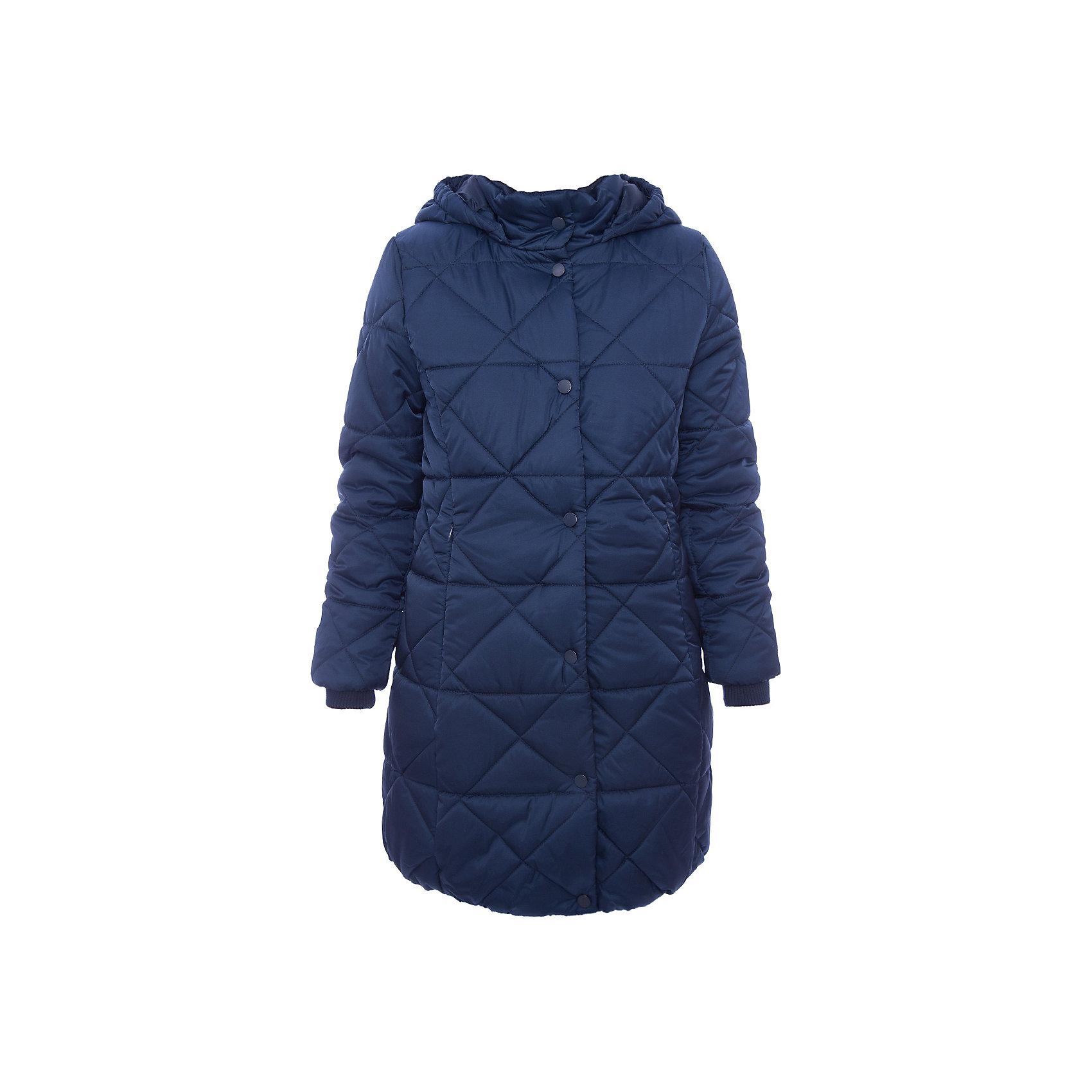 Пальто текстильное для девочки ScoolВерхняя одежда<br>Пальто текстильное для девочки Scool<br>Приталенное стеганое утепленное пальто прекрасно подойдет для холодной промозглой погоды. Специальный карман для фиксации бегунка на застёжке не позволит молнии травмировать нежную детскую кожу. Модель с вшивным капюшоном. Воротник и рукава дополнены трикотажными резинками для дополнительного сохранения тепла.Преимущества: Пальто с удобными вшивными карманами на молнииКапюшон пальто дополнен резинками. Даже при сильном ветре капюшон не спадет с головы ребенка<br>Состав:<br>Верх: 100% полиэстер, Подкладка: 100% полиэстер, Наполнитель: 100% полиэстер, 250 г/м2<br><br>Ширина мм: 356<br>Глубина мм: 10<br>Высота мм: 245<br>Вес г: 519<br>Цвет: синий<br>Возраст от месяцев: 84<br>Возраст до месяцев: 96<br>Пол: Женский<br>Возраст: Детский<br>Размер: 128,140,146,152,158,164,134,122<br>SKU: 6754635