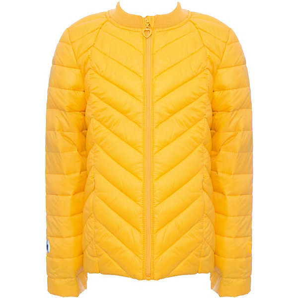 Куртка текстильная для девочки ScoolВерхняя одежда<br>Куртка текстильная для девочки Scool<br>Практичная утепленная стеганая куртка прекрасно подойдет для прогулок в прохладную погоду. Модель с удлиненной спинкой. Горловина из мягкой трикотажной резинки. Специальный карман для фиксации бегунка на молнии не позволит застежке травмировать нежную детскую кожу. Подкладка куртки из яркой ткани с цветочным рисунком.Преимущества: Модель из яркой ткани с водоотталкивающей пропиткойСветоотражающие элементы на рукаве и по низу изделия.Вшивные карманы на молнии<br>Состав:<br>Верх: 100% нейлон, подкладка: 100% полиэстер, наполнитель: 100% полиэстер, 150 г<br>Ширина мм: 356; Глубина мм: 10; Высота мм: 245; Вес г: 519; Цвет: желтый; Возраст от месяцев: 72; Возраст до месяцев: 84; Пол: Женский; Возраст: Детский; Размер: 122,164,158,152,146,140,134,128; SKU: 6754671;