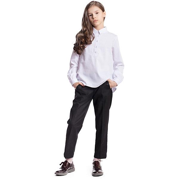 Купить Брюки текстильные для девочки S'cool, Китай, черный, 122, 164, 158, 152, 146, 140, 134, 128, Женский