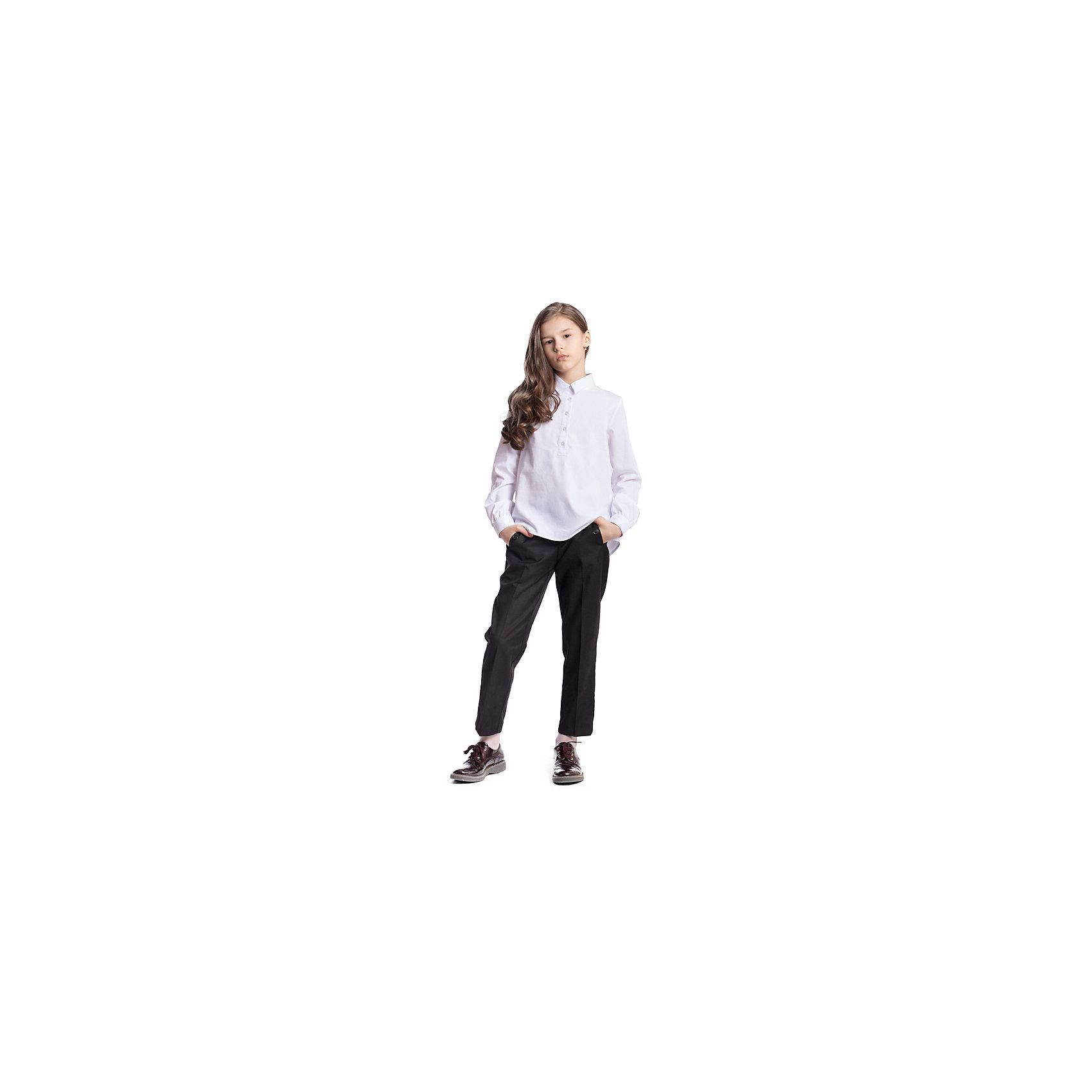 Брюки текстильные для девочки ScoolБрюки<br>Брюки текстильные для девочки Scool<br>Брюки - капри со стрелками в деловом стиле. При конструировании этой модели учитывались все детские физиологические особенности. По талии предусмотрена регулировка за счет удобной резинки на пуговицах.Преимущества: Модель со шлевками при необходимости можно использовать ременьБрюки с вшивными карманами на пуговицах<br>Состав:<br>65% полиэстер, 35% вискоза<br><br>Ширина мм: 215<br>Глубина мм: 88<br>Высота мм: 191<br>Вес г: 336<br>Цвет: черный<br>Возраст от месяцев: 156<br>Возраст до месяцев: 168<br>Пол: Женский<br>Возраст: Детский<br>Размер: 164,122,128,134,140,146,152,158<br>SKU: 6754746