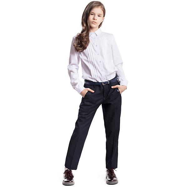 Купить Брюки текстильные для девочки S'cool, Китай, темно-синий, 164, 122, 158, 152, 146, 140, 134, 128, Женский