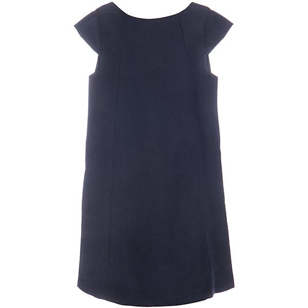 Купить Сарафан текстильный для девочки S'cool, Китай, темно-синий, 158, 164, 152, 146, 140, 134, 128, 122, Женский