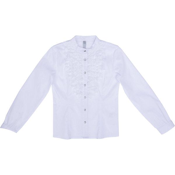 Блузка текстильная для девочки ScoolБлузки и рубашки<br>Блузка текстильная для девочки Scool<br>Блузка в классическом стиле сможет дополнить школьный гардероб ребенка. Модель с воротником - стойкой на передней части декорирована ажурной тесьмой. Длинные рукава блузки дополнены манжетами.<br>Состав:<br>68% хлопок, 28% полиэстер, 4% эластан<br><br>Ширина мм: 186<br>Глубина мм: 87<br>Высота мм: 198<br>Вес г: 197<br>Цвет: белый<br>Возраст от месяцев: 72<br>Возраст до месяцев: 84<br>Пол: Женский<br>Возраст: Детский<br>Размер: 122,164,158,152,146,140,134,128<br>SKU: 6754809