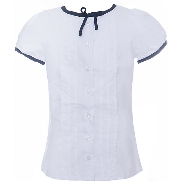 Блузка текстильная для девочки ScoolБлузки и рубашки<br>Блузка текстильная для девочки Scool<br>Блузка с коротким рукавом в классическом стиле сможет дополнить школьный гардероб ребенка. Передняя часть этой модели декорирована встрочными складками по всей длине изделия. Рукава - фонарики и горловина отделаны контрастной тканью.<br>Состав:<br>65% полиэстер, 35% хлопок<br>Ширина мм: 186; Глубина мм: 87; Высота мм: 198; Вес г: 197; Цвет: белый; Возраст от месяцев: 84; Возраст до месяцев: 96; Пол: Женский; Возраст: Детский; Размер: 128,164,122,134,140,146,152,158; SKU: 6754835;