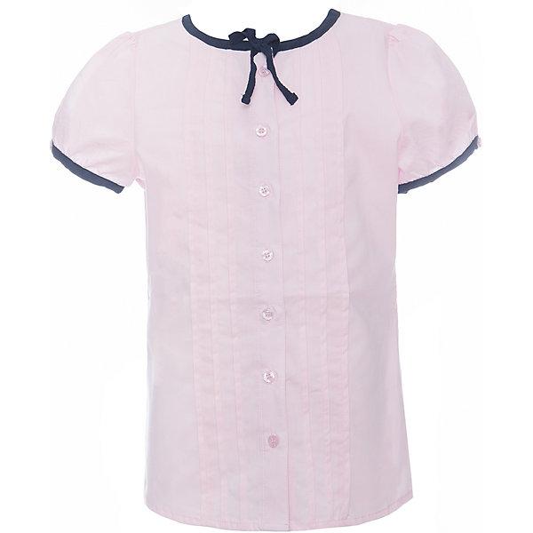 Блузка текстильная для девочки ScoolБлузки и рубашки<br>Блузка текстильная для девочки Scool<br>розовыйБлузка с коротким рукавом в классическом стиле сможет дополнить школьный гардероб ребенка. Передняя часть этой модели декорирована встрочными складками по всей длине изделия. Рукава - фонарики и горловина отделаны контрастной тесьмой. На воротнике тесьма завязывается на аккуратный бант.<br>Состав:<br>65% полиэстер, 35% хлопок<br><br>Ширина мм: 186<br>Глубина мм: 87<br>Высота мм: 198<br>Вес г: 197<br>Цвет: светло-розовый<br>Возраст от месяцев: 132<br>Возраст до месяцев: 144<br>Пол: Женский<br>Возраст: Детский<br>Размер: 152,128,164,158,146,140,134<br>SKU: 6754844