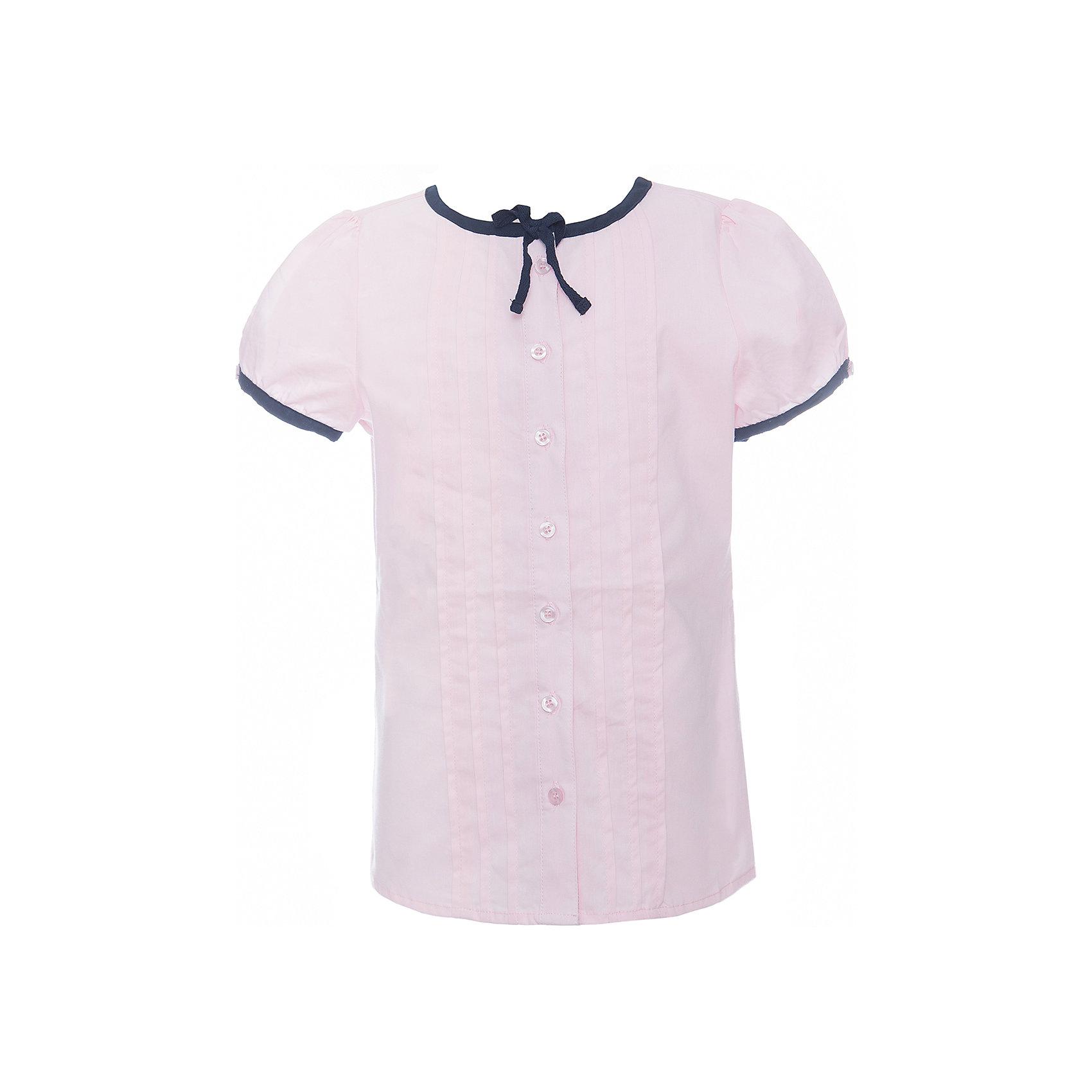 Блузка текстильная для девочки ScoolБлузки и рубашки<br>Блузка текстильная для девочки Scool<br>розовыйБлузка с коротким рукавом в классическом стиле сможет дополнить школьный гардероб ребенка. Передняя часть этой модели декорирована встрочными складками по всей длине изделия. Рукава - фонарики и горловина отделаны контрастной тесьмой. На воротнике тесьма завязывается на аккуратный бант.<br>Состав:<br>65% полиэстер, 35% хлопок<br><br>Ширина мм: 186<br>Глубина мм: 87<br>Высота мм: 198<br>Вес г: 197<br>Цвет: светло-розовый<br>Возраст от месяцев: 156<br>Возраст до месяцев: 168<br>Пол: Женский<br>Возраст: Детский<br>Размер: 164,128,134,140,146,152,158<br>SKU: 6754844