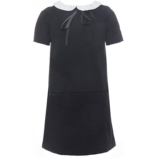 Купить Платье трикотажное для девочки S'cool, Китай, черный, 128, 164, 158, 122, 152, 146, 140, 134, Женский