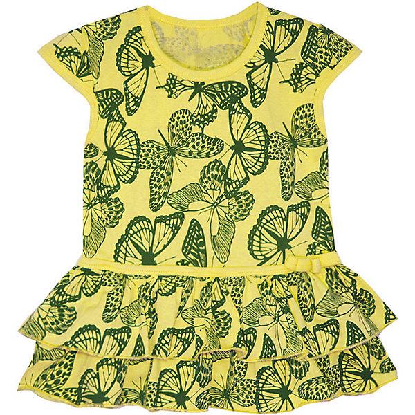 Платье для девочки KotMarKotПлатья и сарафаны<br>Характеристики товара:<br><br>• цвет: желтый<br>• состав ткани: 100% хлопок<br>• сезон: лето<br>• короткие рукава<br>• страна бренда: Россия<br>• страна изготовитель: Россия<br><br>Летнее платье KotMarKot выполнено из хлопка. Яркий принт непременно понравится девочке и поднимет настроение. Отличный вариант для летней прогулки.<br><br>Платье KotMarKot (КотМарКот) для девочки можно купить в нашем интернет-магазине.<br><br>Ширина мм: 236<br>Глубина мм: 16<br>Высота мм: 184<br>Вес г: 177<br>Цвет: желтый<br>Возраст от месяцев: 72<br>Возраст до месяцев: 84<br>Пол: Женский<br>Возраст: Детский<br>Размер: 122,116,110,104,98,92<br>SKU: 6755154