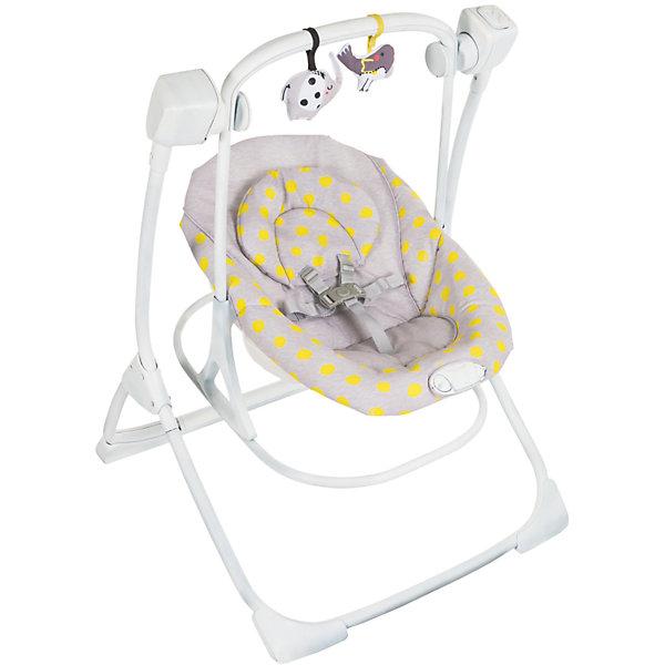 Электрокачели 2 в 1 Cozy Duet, Graco, бежевыйДетские качели для дома<br>Характеристики:<br><br>• 4 скорости качания;<br>• 2 типа вибрации;<br>• наклон спинки регулируется в 2-х положениях;<br>• 5-ти точечные ремни безопасности;<br>• дуга со съемными игрушками;<br>• звуковое сопровождение: мелодии, звуки природы;<br>• допустимая нагрузка: до 9 кг;<br>• качели работают от сети;<br>• размер электрокачелей: 86х70х96 см;<br>• вес:  7,6 кг;<br>• размер упаковки: 66х19х73 см.<br><br>Электрокачели Cozy Duet используются с первых дней жизни малыша. Регулируется наклон спинки, настраивается скорость качания и тип вибрации. Мягкая обивка электрокачелей не вызывает аллергической реакции даже у малышей с чувствительной кожей. <br><br>Электрокачели 2 в 1 Cozy Duet, Graco, бежевый можно купить в нашем интернет-магазине.<br><br>Ширина мм: 660<br>Глубина мм: 190<br>Высота мм: 730<br>Вес г: 9550<br>Возраст от месяцев: 0<br>Возраст до месяцев: 12<br>Пол: Унисекс<br>Возраст: Детский<br>SKU: 6757378