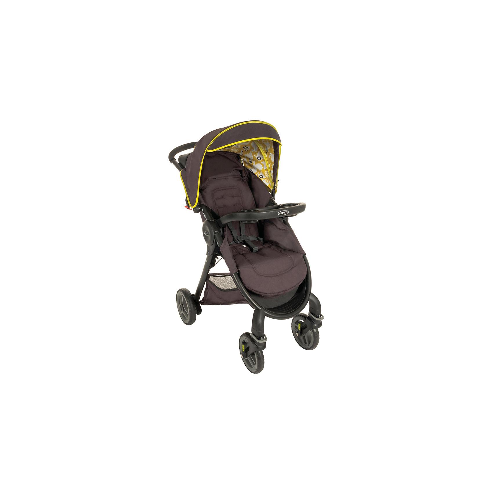 Прогулочная коляска Graco Fastaction Fold, коричневыйПрогулочные коляски<br>Характеристики коляски<br><br>Прогулочный блок:<br><br>• регулируется наклон спинки, 3 положения;<br>• регулируется наклон подножки; <br>• имеются 5-ти точечные ремни безопасности;<br>• капюшон оснащен солнцезащитным козырьком;<br>• в комплекте подстаканник;<br>• материал: алюминий, пластик, полиэстер.<br><br>Рама коляски:<br><br>• передние колеса поворотные;<br>• колеса съемные;<br>• коляска кладывается одной рукой;<br>• тип складывания: книжка.<br><br>Размер коляски: 79х62х106 см<br>Вес: 11,2 кг<br>Диаметр колес: 19 см, 21 см<br><br>Прогулочную коляску Fastaction Fold, Graco, коричневый можно купить в нашем интернет-магазине.<br><br>Ширина мм: 480<br>Глубина мм: 265<br>Высота мм: 770<br>Вес г: 12500<br>Возраст от месяцев: 6<br>Возраст до месяцев: 36<br>Пол: Унисекс<br>Возраст: Детский<br>SKU: 6757385