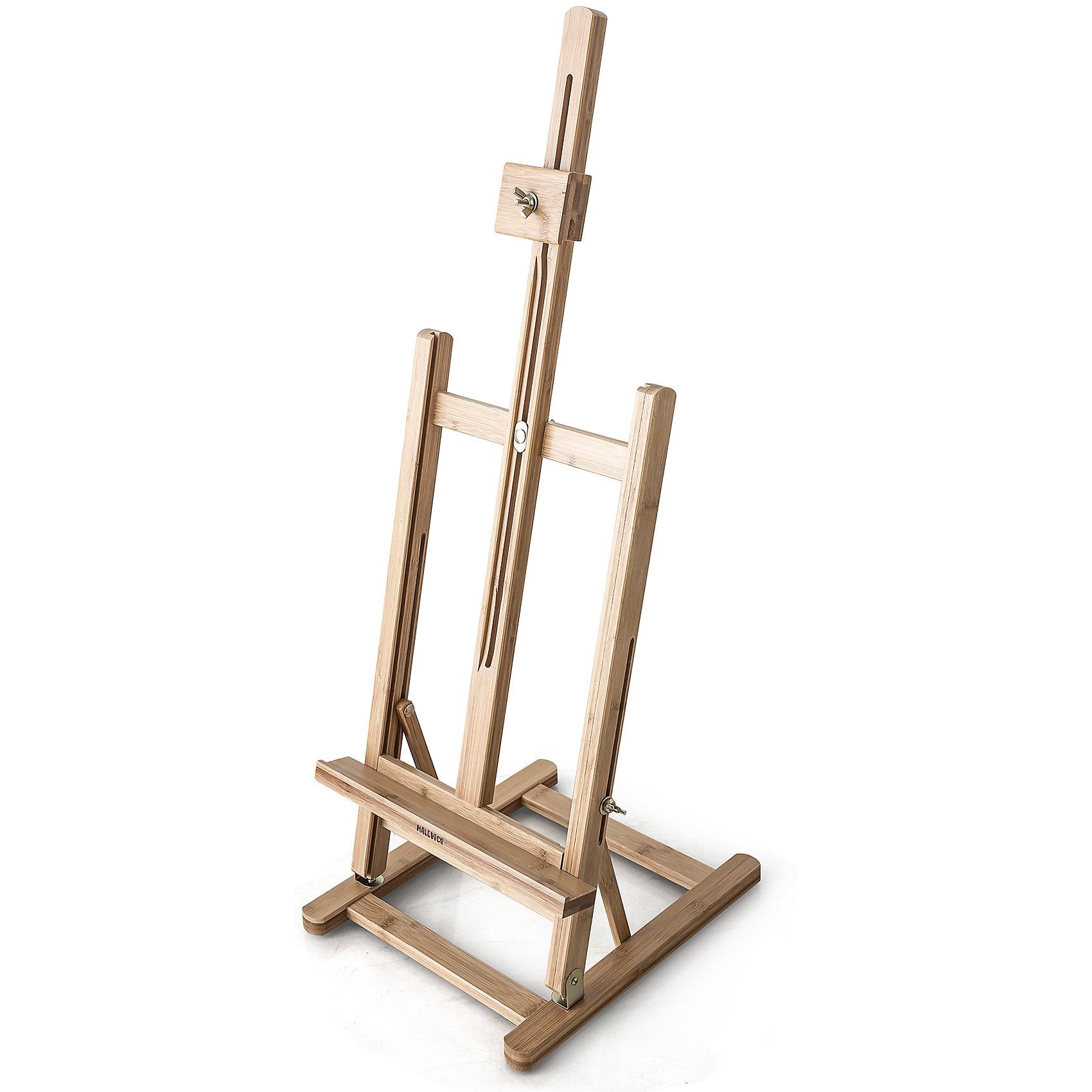 Настольный мольберт МЛ-58Мольберты<br>Компактный мольберт из натурального материала с металлической фурнитурой. Представляет собой настольный аналог больших студийных мольбертов для работы с полотнами небольшого формата. Изготовлен из прочной бамбуковой древесины и оснащен системой регулировки наклона холста и высоты полочки, а также фиксатором холста. Благодаря квадратному основанию, оснащенному предотвращающими скольжение упорами, мольберт особенно устойчив. Может стать изюминкой стильного интерьера в качестве подставки для картин, фотографий или календарей.<br><br>Габариты:<br><br>Высота – 75-95 см<br>Основание – 27,5 х 32 см<br>Полка – 29 х 3 см<br>Максимальная высота холста – 50 см<br>Вес – 1,5 кг<br><br>Настольный мольберт МЛ-58:<br><br>• прочный и красивый<br>• из натурального бамбука<br>• с устойчивой к коррозии металлической фурнитурой <br>• с регулируемым наклоном холста и высотой полки<br>• может служить подставкой для фотографий<br><br>Ширина мм: 670<br>Глубина мм: 305<br>Высота мм: 77<br>Вес г: 1500<br>Возраст от месяцев: 84<br>Возраст до месяцев: 2147483647<br>Пол: Унисекс<br>Возраст: Детский<br>SKU: 6757423
