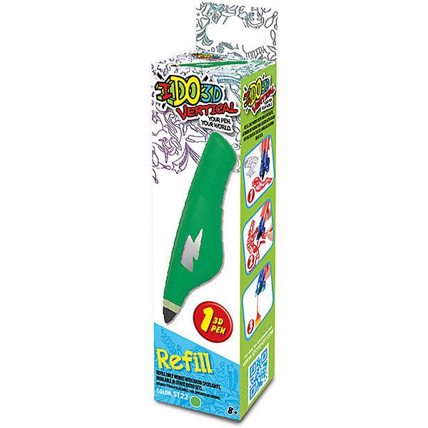 Картридж для 3Д ручки Вертикаль, зеленыйНаборы 3D ручек<br>Характеристики товара:<br><br>• возраст: от 8 лет;<br>• материал: пластик;<br>• в комплекте: 1 картридж;<br>• размер упаковки: 16,5х4,5х3,5 см;<br>• вес упаковки: 78 гр.;<br>• страна производитель: Китай.<br><br>Картридж для 3D ручки «Вертикаль» зеленый — дополнительный картридж для создания объемных изображений при помощи 3D ручки. Внутри картриджа особый жидкий полимер, который затвердевает под воздействием лампы. Получаются объемные фигурки. Толщина линий регулируется простым нажатием на стенки картриджа. <br><br>Картридж для 3D ручки «Вертикаль» зеленый можно приобрести в нашем интернет-магазине.<br>Ширина мм: 45; Глубина мм: 35; Высота мм: 165; Вес г: 78; Возраст от месяцев: 36; Возраст до месяцев: 2147483647; Пол: Унисекс; Возраст: Детский; SKU: 6758208;