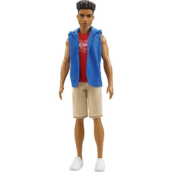 Кен из серии Игра с модой, темнокожий, 29 см, BarbieBarbie Игрушки<br>Характеристики товара:<br><br>• возраст: от 3 лет;<br>• материал: пластик;<br>• в комплекте: кукла, одежда;<br>• высота куклы: 29 см;<br>• размер упаковки: 32,5х12,5х6 см;<br>• вес упаковки: 282 гр.;<br>• страна производитель: Китай.<br><br>Кукла Кен «Игра с модой» Barbie одет в красную футболку, синюю жилетку и шорты. У Кена темные волосы и карие глаза. С ним девочка сможет придумать увлекательные сюжеты для игры.<br><br>Куклу Кен «Игра с модой» Barbie можно приобрести в нашем интернет-магазине.<br><br>Ширина мм: 125<br>Глубина мм: 60<br>Высота мм: 325<br>Вес г: 282<br>Возраст от месяцев: 36<br>Возраст до месяцев: 120<br>Пол: Женский<br>Возраст: Детский<br>SKU: 6758336