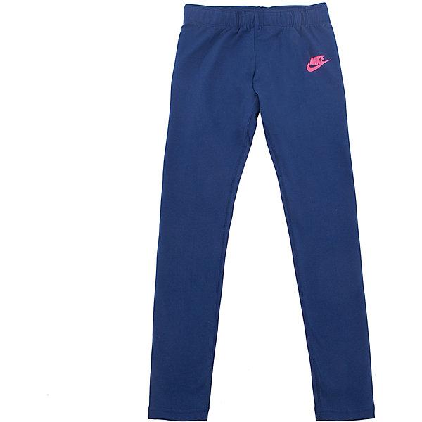 Леггинсы Nike Club Logo LeggingsСпортивная форма<br>Характеристики товара:<br><br>• цвет: синий<br>• спортивный стиль<br>• состав: хлопок 92%, эластан 8%<br>• мягкий пояс <br>• комфортная посадка<br>• легкий эластичный материал<br>• небольшой принт<br>• материал дарит ощущение прохлады и комфорт<br>• машинная стирка<br>• износостойкий материал<br>• страна бренда: США<br>• страна изготовитель: Вьетнам<br><br>Продукция бренда NIKE известна высоким качеством и уникальным узнаваемым дизайном. Материал, из которого сшито изделие, помогает создать для тела необходимую вентиляцию и вывод влаги.<br><br>Качественный материал обеспечивает вещам долгий срок службы и отличный внешний вид даже после значительного количества стирок. Уход за изделием прост - достаточно машинной стирки на низкой температуре.<br><br>Легкая ткань создает комфортную посадку, вещь при этом смотрится очень стильно. Благодаря универсальному цвету она отлично смотрится с разной одеждой и обувью.<br><br>Леггинсы NIKE (Найк) можно купить в нашем интернет-магазине.<br><br>Ширина мм: 123<br>Глубина мм: 10<br>Высота мм: 149<br>Вес г: 209<br>Цвет: синий<br>Возраст от месяцев: 84<br>Возраст до месяцев: 96<br>Пол: Женский<br>Возраст: Детский<br>Размер: 122/128,158/170,147/158,135/140,128/134<br>SKU: 6758836