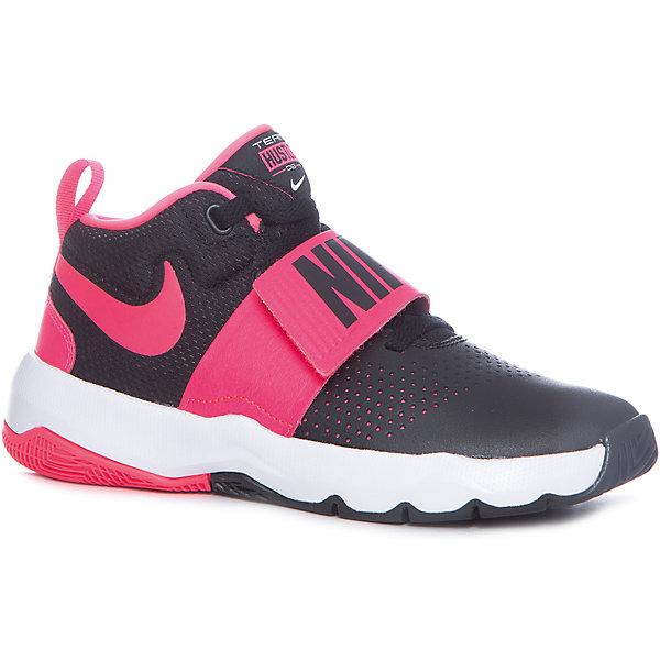 Кроссовки NIKEОбувь для девочек<br>Характеристики товара:<br><br>• цвет: разноцветный<br>• спортивный стиль<br>• внешний материал обуви: полимер<br>• внутренний материал: текстиль<br>• стелька: текстиль<br>• подошва: резина, пластик <br>• декорированы логотипом<br>• вставка в подошве для мягкой амортизации<br>• тип застежки: липучка, шнуровка<br>• сезон: весна, лето<br>• температурный режим: от +10°С до +20°С<br>• устойчивая подошва<br>• защищенный мыс и пятка<br>• износостойкий материал<br>• коллекция: весна-лето 2017<br>• страна бренда: США<br>• страна изготовитель: Индонезия<br><br>Продукция бренда NIKE известна высоким качеством, уникальным узнаваемым дизайном и проработанными деталями, которые создают удобство при занятиях спортом и долгой ходьбе. Натуральная кожа в качестве внутреннего материала помогает этой модели обеспечить ребенку комфорт и предотвратить натирание.<br><br>Уход за такой обувью прост, она легко чистится и быстро сушится. Надевается элементарно благодаря удобной застежке.<br><br>Обувь качественно проработана, она долго служит, удобно сидит, отлично защищает детскую ногу от повреждений. Стильно выглядит и хорошо смотрится с одеждой разных цветов и стилей.<br><br>Кроссовки NIKE (Найк) можно купить в нашем интернет-магазине.<br>Ширина мм: 250; Глубина мм: 150; Высота мм: 150; Вес г: 250; Цвет: черный; Возраст от месяцев: 132; Возраст до месяцев: 144; Пол: Унисекс; Возраст: Детский; Размер: 39,38.5,38,34.5,37.5,37,36.5,35.5; SKU: 6758879;