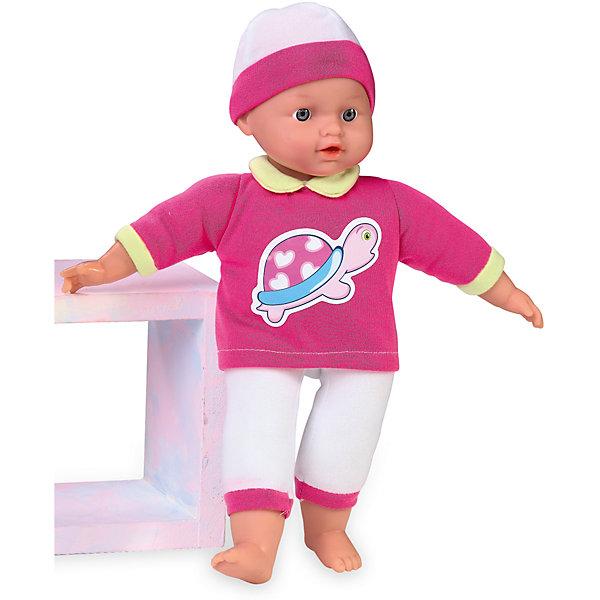 Кукла Tiny Baby, плачет, Loko ToysКуклы<br>Характеристики товара:<br><br>• возраст: от 10 месяцев;<br>• материал: пластик, текстиль, ПВХ;<br>• в комплекте: кукла, футболка, фигурка медвежонка;<br>• высота куклы: 30 см;<br>• тип батареек: 3 батарейки LR44;<br>• наличие батареек: в комплекте;<br>• размер упаковки: 32х19х9,5 см;<br>• вес упаковки: 430 гр.;<br>• страна производитель: Китай;<br>• товар представлен в ассортименте, нет возможности выбрать конкретную расцветку.<br><br>Кукла «Tiny Baby» Loko Toys одета в мягкий уютный костюмчик и шапочку. Игра с куклой привьет девочке любовь, чувство ответственности, заботы и помощи окружающим. Нажав на животик, кукла начнет плакать, а маленькая заботливая мама может покачать пупса и успокоить.<br><br>Куклу «Tiny Baby» Loko Toys можно приобрести в нашем интернет-магазине.<br>Ширина мм: 190; Глубина мм: 95; Высота мм: 320; Вес г: 430; Возраст от месяцев: 10; Возраст до месяцев: 2147483647; Пол: Женский; Возраст: Детский; SKU: 6759064;