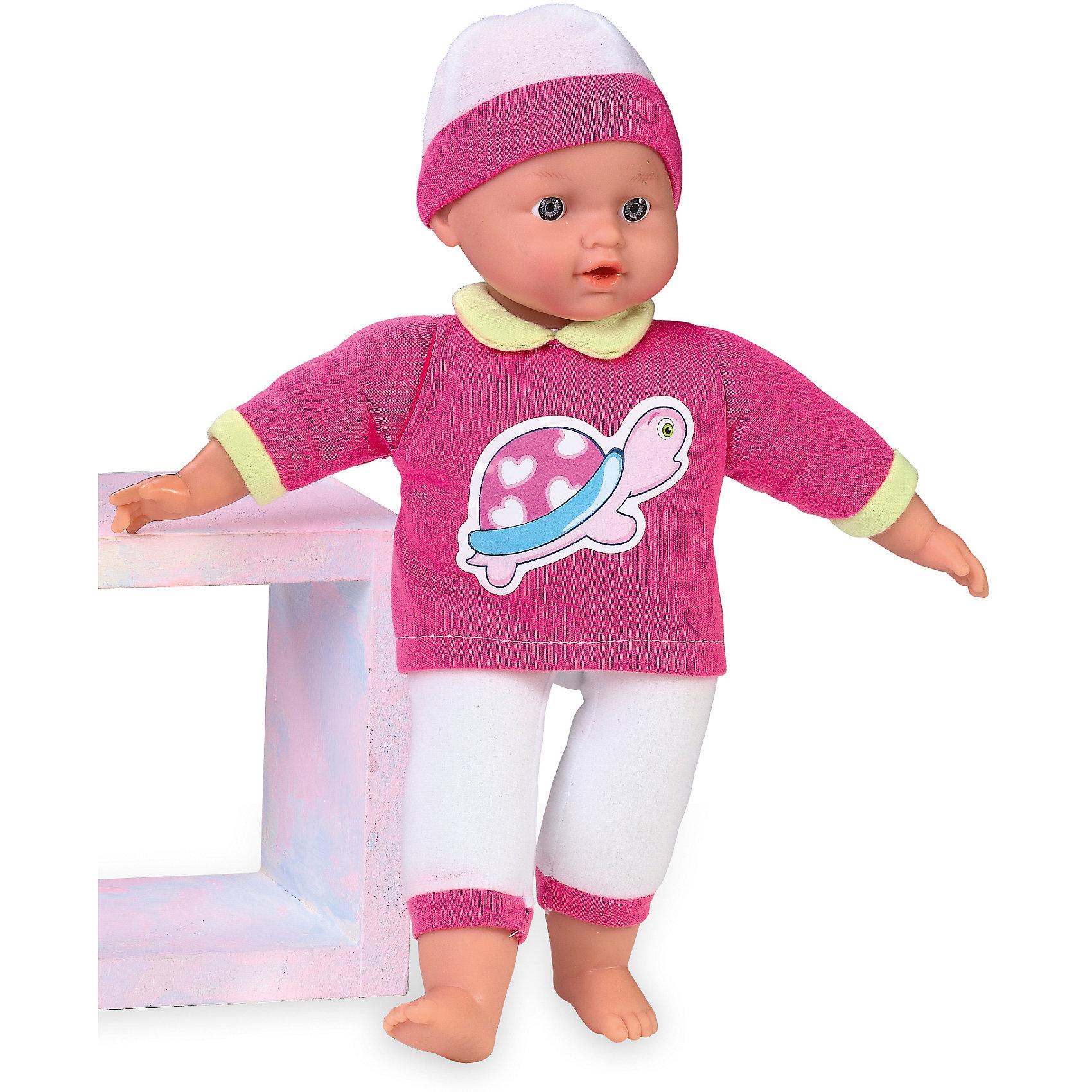 Кукла Tiny Baby, плачет, Loko ToysКуклы-пупсы<br>Характеристики товара:<br><br>• возраст: от 10 месяцев;<br>• материал: пластик, текстиль, ПВХ;<br>• в комплекте: кукла, футболка, фигурка медвежонка;<br>• высота куклы: 30 см;<br>• тип батареек: 3 батарейки LR44;<br>• наличие батареек: в комплекте;<br>• размер упаковки: 32х19х9,5 см;<br>• вес упаковки: 430 гр.;<br>• страна производитель: Китай;<br>• товар представлен в ассортименте, нет возможности выбрать конкретную расцветку.<br><br>Кукла «Tiny Baby» Loko Toys одета в мягкий уютный костюмчик и шапочку. Игра с куклой привьет девочке любовь, чувство ответственности, заботы и помощи окружающим. Нажав на животик, кукла начнет плакать, а маленькая заботливая мама может покачать пупса и успокоить.<br><br>Куклу «Tiny Baby» Loko Toys можно приобрести в нашем интернет-магазине.<br><br>Ширина мм: 190<br>Глубина мм: 95<br>Высота мм: 320<br>Вес г: 430<br>Возраст от месяцев: 10<br>Возраст до месяцев: 2147483647<br>Пол: Женский<br>Возраст: Детский<br>SKU: 6759064