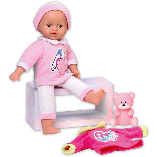 Кукла Tiny Baby подарочная, Loko ToysКуклы<br>Характеристики товара:<br><br>• возраст: от 10 месяцев;<br>• материал: пластик, текстиль, ПВХ;<br>• в комплекте: кукла, футболка, фигурка медвежонка;<br>• высота куклы: 30 см;<br>• тип батареек: 3 батарейки LR44;<br>• наличие батареек: в комплекте;<br>• размер упаковки: 34х27х10,5 см;<br>• вес упаковки: 550 гр.;<br>• страна производитель: Китай;<br>• товар представлен в ассортименте, нет возможности выбрать конкретную расцветку.<br><br>Кукла «Tiny Baby» Loko Toys подарочная одета в розовый мягкий костюмчик и шапочку. В комплекте дополнительная футболочка с рисунком. Игра с куклой привьет девочке любовь, чувство ответственности, заботы и помощи окружающим. Нажав на животик, кукла начнет плакать, а маленькая заботливая мама может покачать пупса и успокоить.<br><br>Куклу «Tiny Baby» Loko Toys подарочную можно приобрести в нашем интернет-магазине.<br>Ширина мм: 270; Глубина мм: 105; Высота мм: 340; Вес г: 550; Возраст от месяцев: 10; Возраст до месяцев: 2147483647; Пол: Женский; Возраст: Детский; SKU: 6759065;