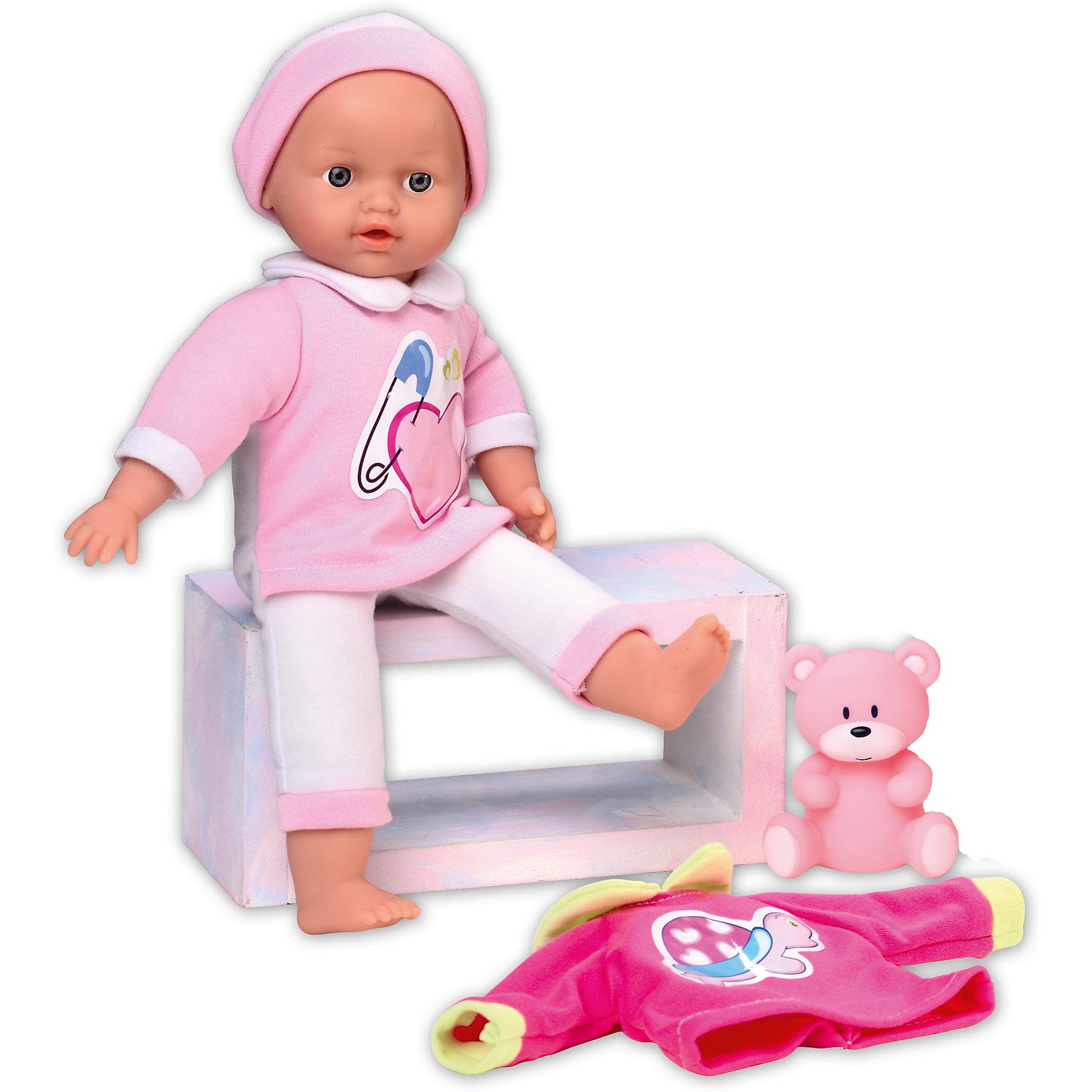 Кукла Tiny Baby подарочная, Loko ToysКуклы-пупсы<br>Характеристики товара:<br><br>• возраст: от 10 месяцев;<br>• материал: пластик, текстиль, ПВХ;<br>• в комплекте: кукла, футболка, фигурка медвежонка;<br>• высота куклы: 30 см;<br>• тип батареек: 3 батарейки LR44;<br>• наличие батареек: в комплекте;<br>• размер упаковки: 34х27х10,5 см;<br>• вес упаковки: 550 гр.;<br>• страна производитель: Китай;<br>• товар представлен в ассортименте, нет возможности выбрать конкретную расцветку.<br><br>Кукла «Tiny Baby» Loko Toys подарочная одета в розовый мягкий костюмчик и шапочку. В комплекте дополнительная футболочка с рисунком. Игра с куклой привьет девочке любовь, чувство ответственности, заботы и помощи окружающим. Нажав на животик, кукла начнет плакать, а маленькая заботливая мама может покачать пупса и успокоить.<br><br>Куклу «Tiny Baby» Loko Toys подарочную можно приобрести в нашем интернет-магазине.<br><br>Ширина мм: 270<br>Глубина мм: 105<br>Высота мм: 340<br>Вес г: 550<br>Возраст от месяцев: 10<br>Возраст до месяцев: 2147483647<br>Пол: Женский<br>Возраст: Детский<br>SKU: 6759065