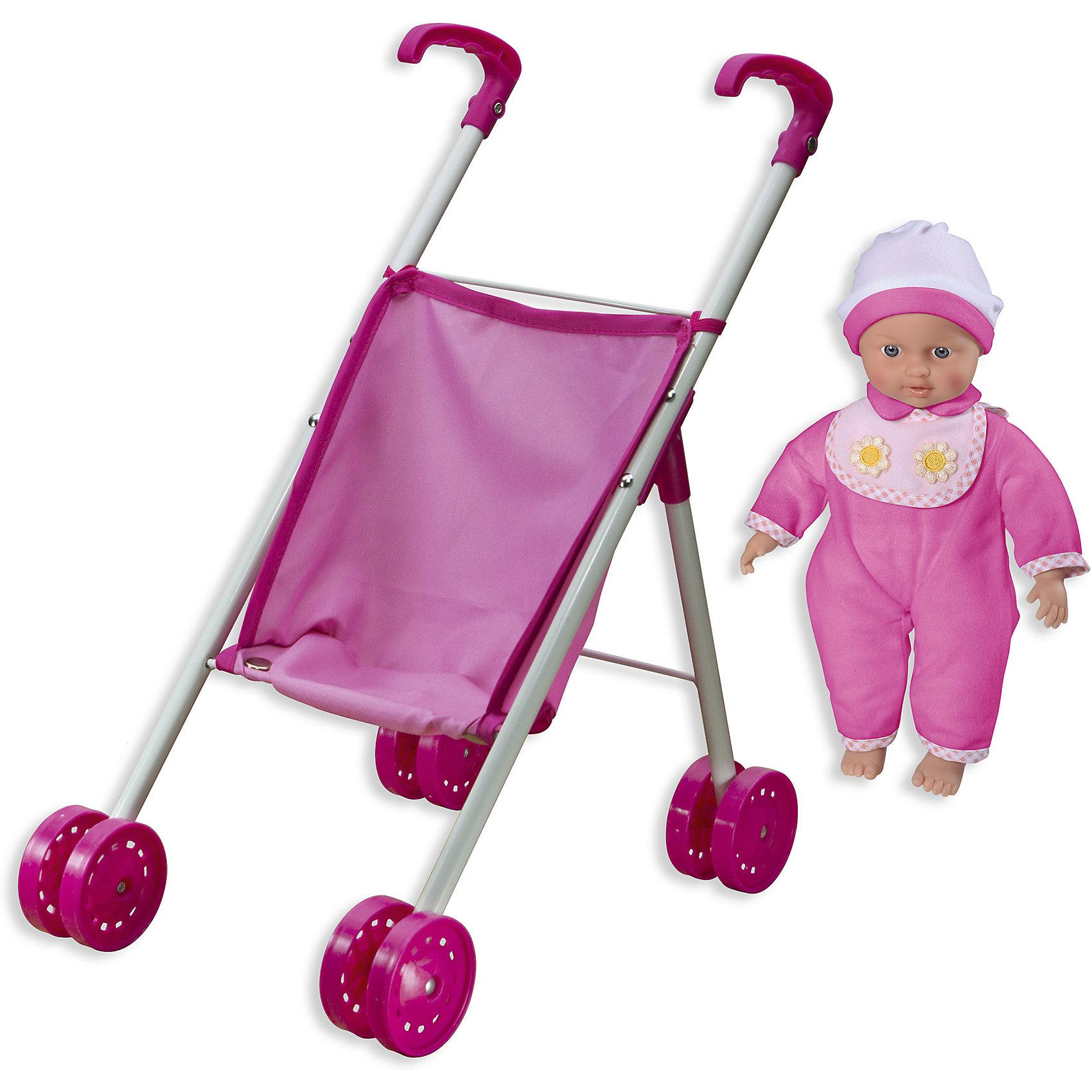 Кукла Tiny Baby с коляской, Loko ToysКуклы-пупсы<br>Характеристики товара:<br><br>• возраст: от 1,5 лет;<br>• материал: пластик, текстиль, ПВХ;<br>• в комплекте: кукла, коляска;<br>• высота куклы: 30 см;<br>• размер упаковки: 57х25,5х13 см;<br>• вес упаковки: 1,43 кг;<br>• страна производитель: Китай;<br>• товар представлен в ассортименте, нет возможности выбрать конкретную расцветку.<br><br>Кукла «Tiny Baby» Loko Toys с коляской одета в розовый мягкий комбинезон и шапочку. На шее повязан слюнявчик. Куклу можно взять на прогулку на свежем воздухе, посадив ее в комфортную коляску. Игра с куклой привьет девочке любовь, чувство ответственности, заботы и помощи окружающим. Нажав на животик, кукла начнет плакать, а маленькая заботливая мама может покачать пупса и успокоить.<br><br>Куклу «Tiny Baby» Loko Toys с коляской можно приобрести в нашем интернет-магазине.<br><br>Ширина мм: 255<br>Глубина мм: 130<br>Высота мм: 570<br>Вес г: 1430<br>Возраст от месяцев: 18<br>Возраст до месяцев: 2147483647<br>Пол: Женский<br>Возраст: Детский<br>SKU: 6759067